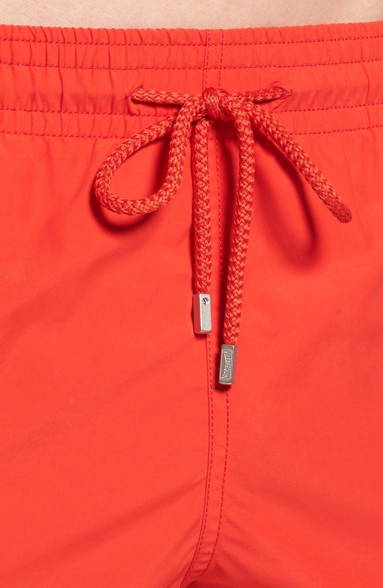 Swim Trunks,                             Alternate thumbnail 4, color,                             Poppy Red