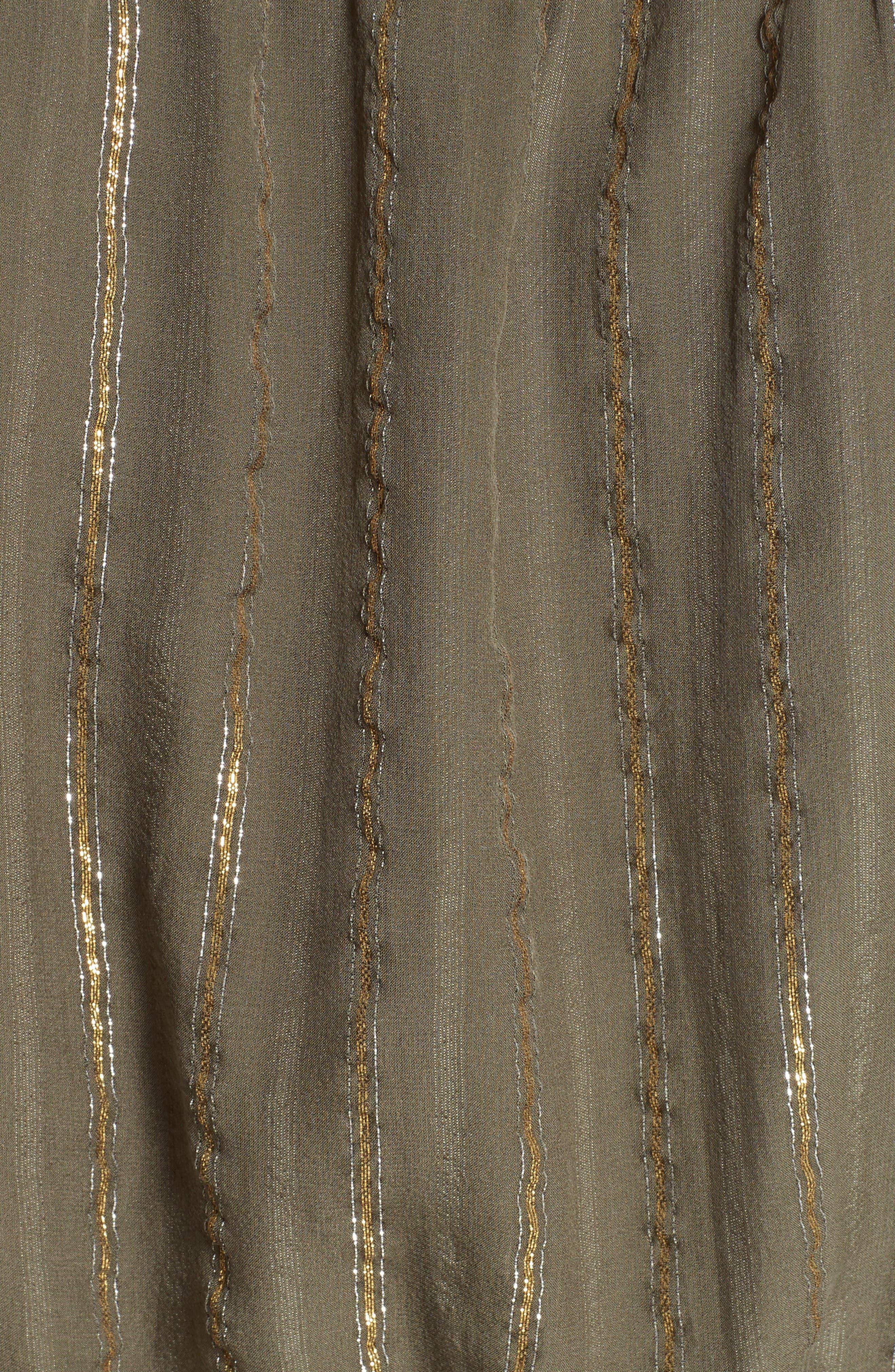 Alternate Image 5  - Joie Klea Metallic Stripe Silk Midi Dress