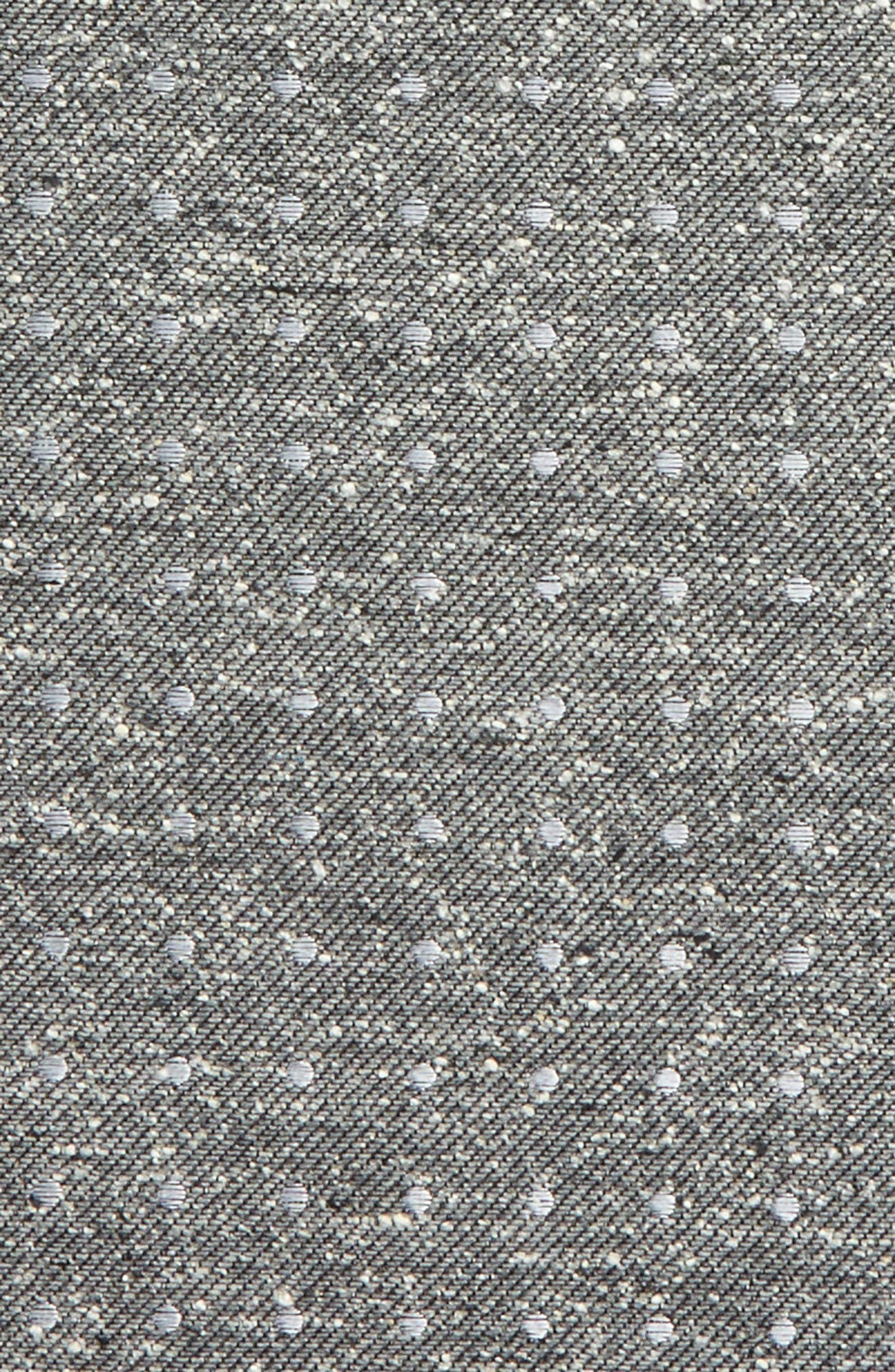 Knotted Dots Silk Pocket Square,                             Alternate thumbnail 2, color,                             Grey