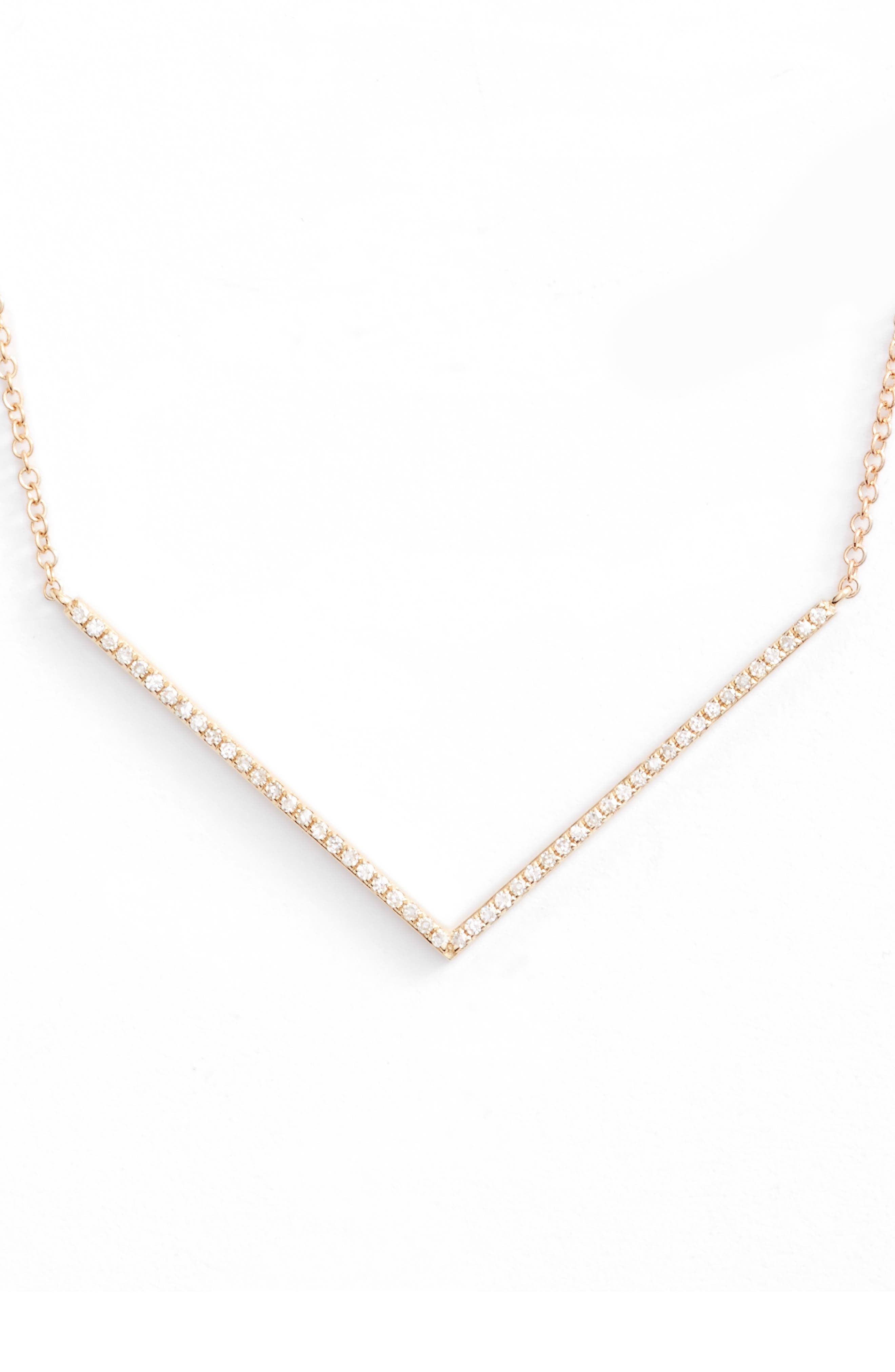 EF COLLECTION Diamond Pendant Necklace