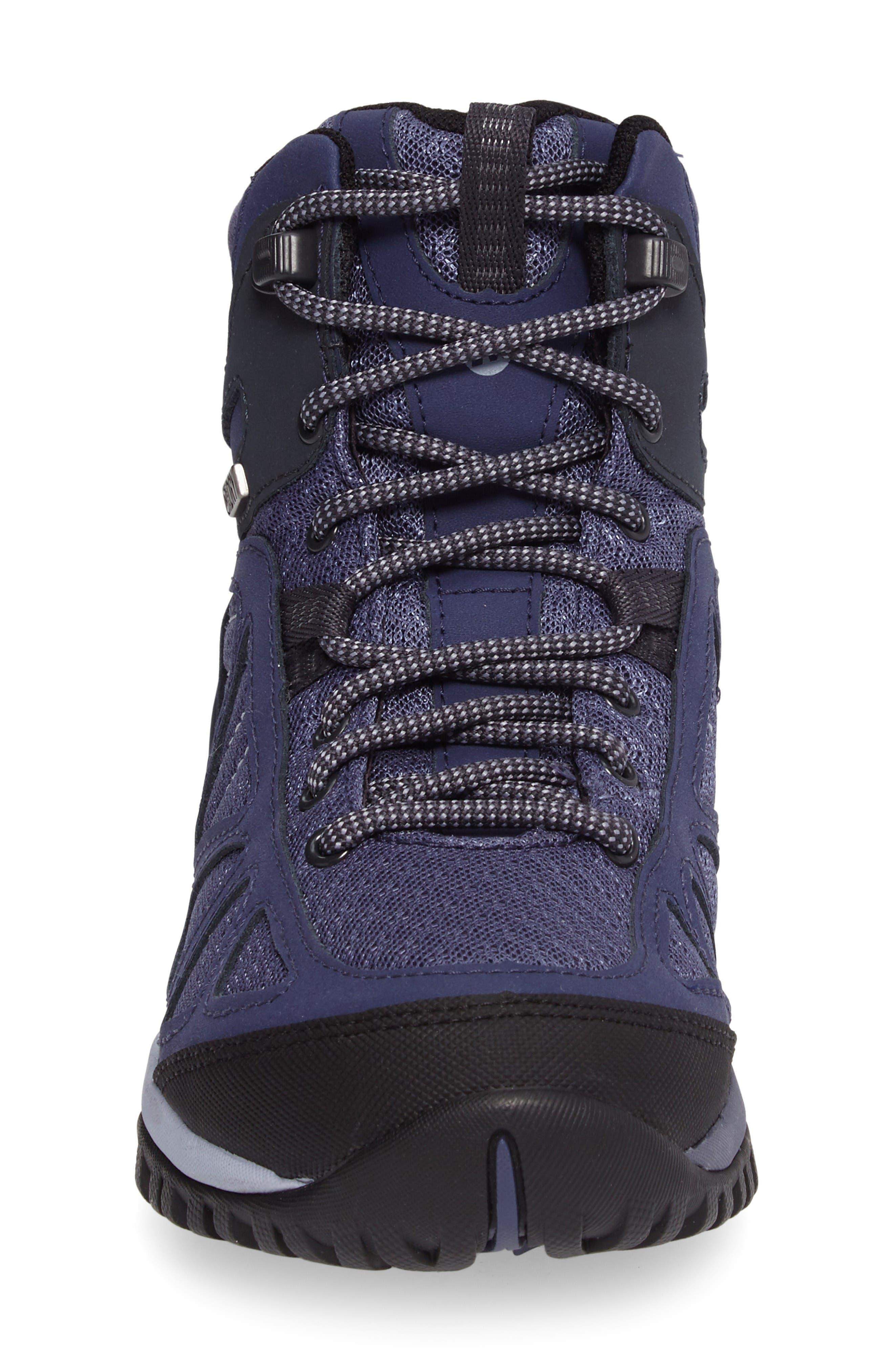 Siren Sport Q2 Waterproof Mid Top Sneaker,                             Alternate thumbnail 4, color,                             Crown Blue Nubuck Leather