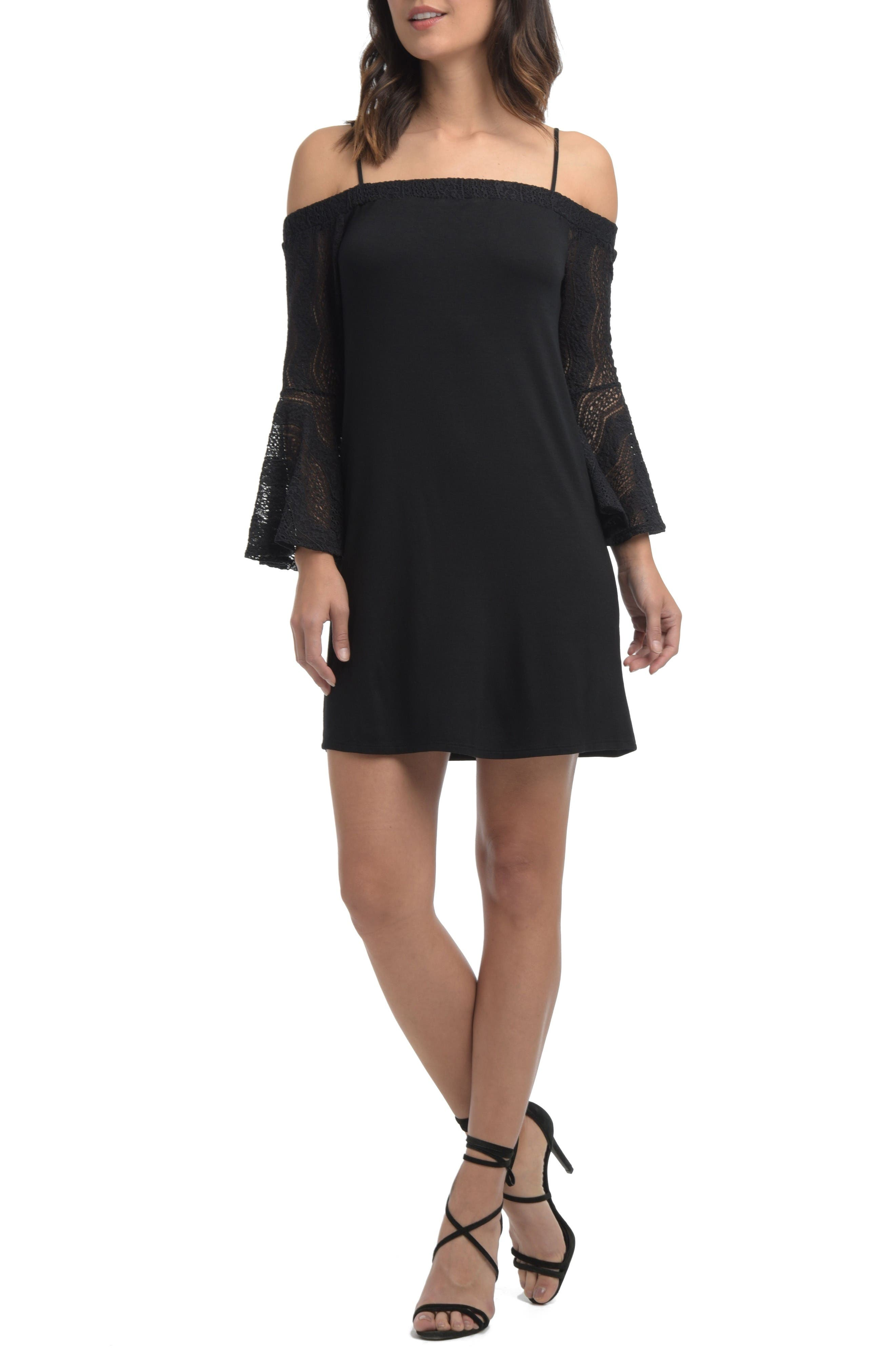Alternate Image 1 Selected - Ella Moss Annalia Lace Cold Shoulder Dress