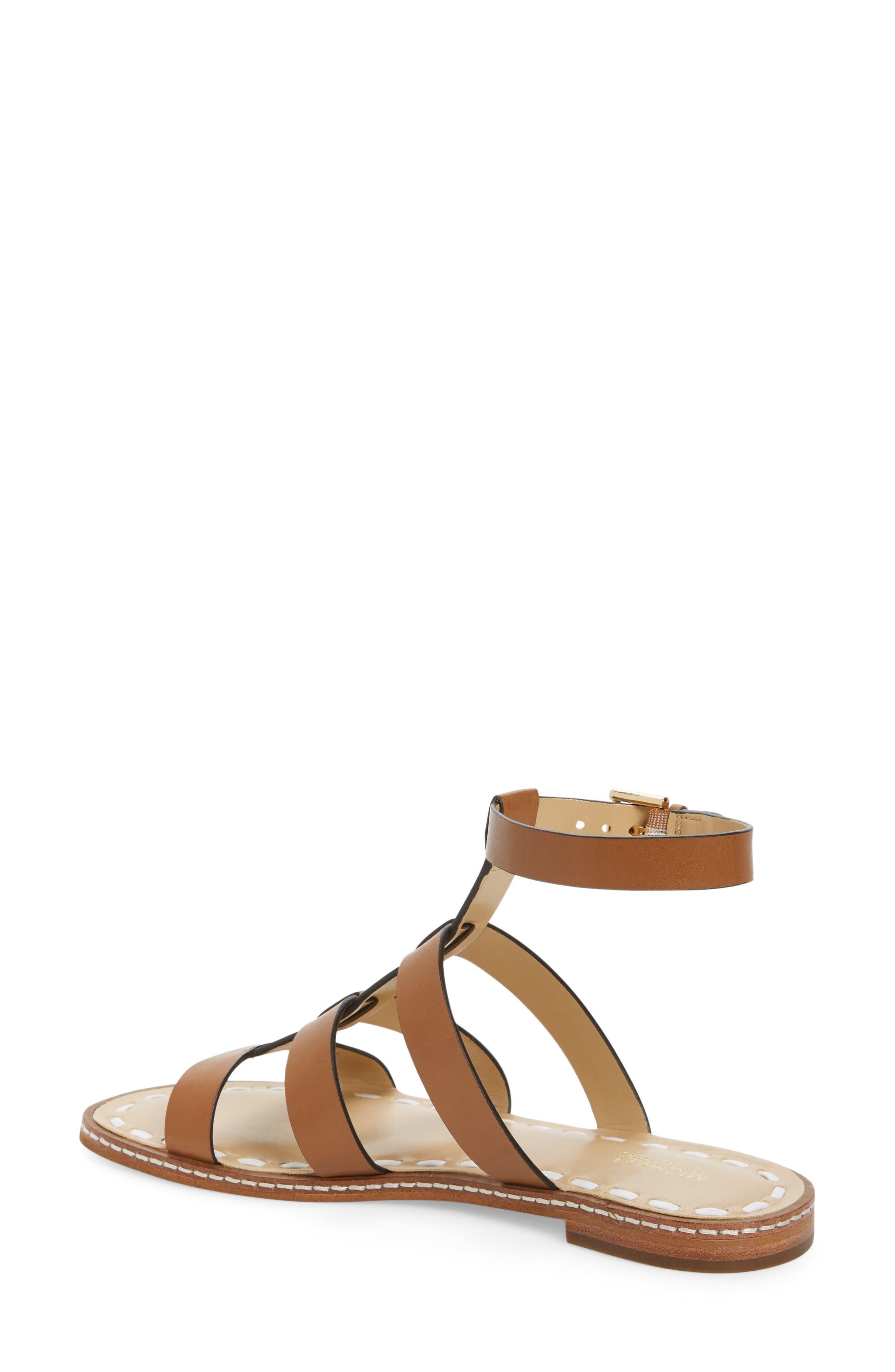 Fallon Gladiator Sandal,                             Alternate thumbnail 2, color,                             Acorn/ White Leather