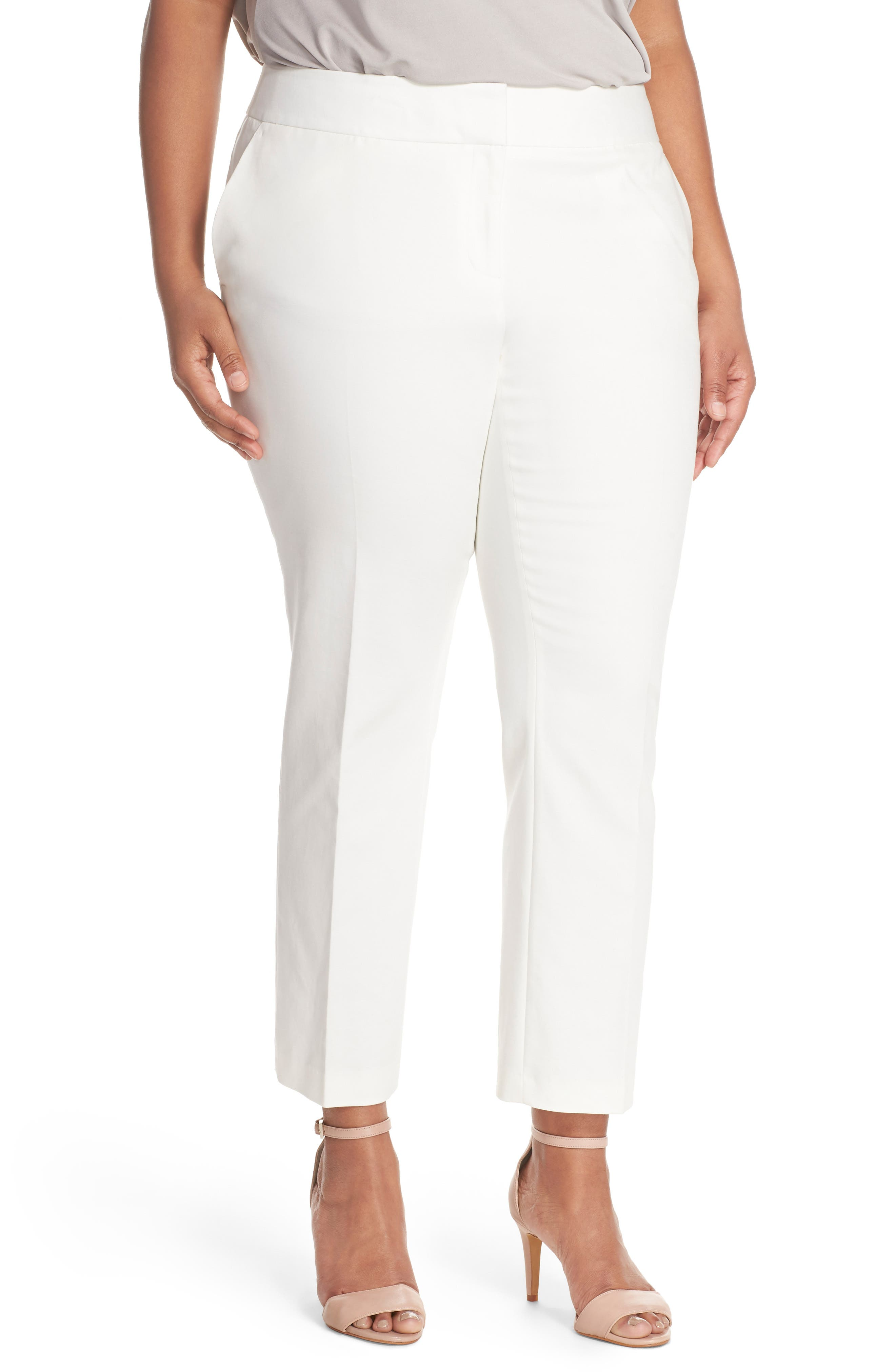 Wide Leg Trousers,                             Main thumbnail 1, color,                             New Ivory