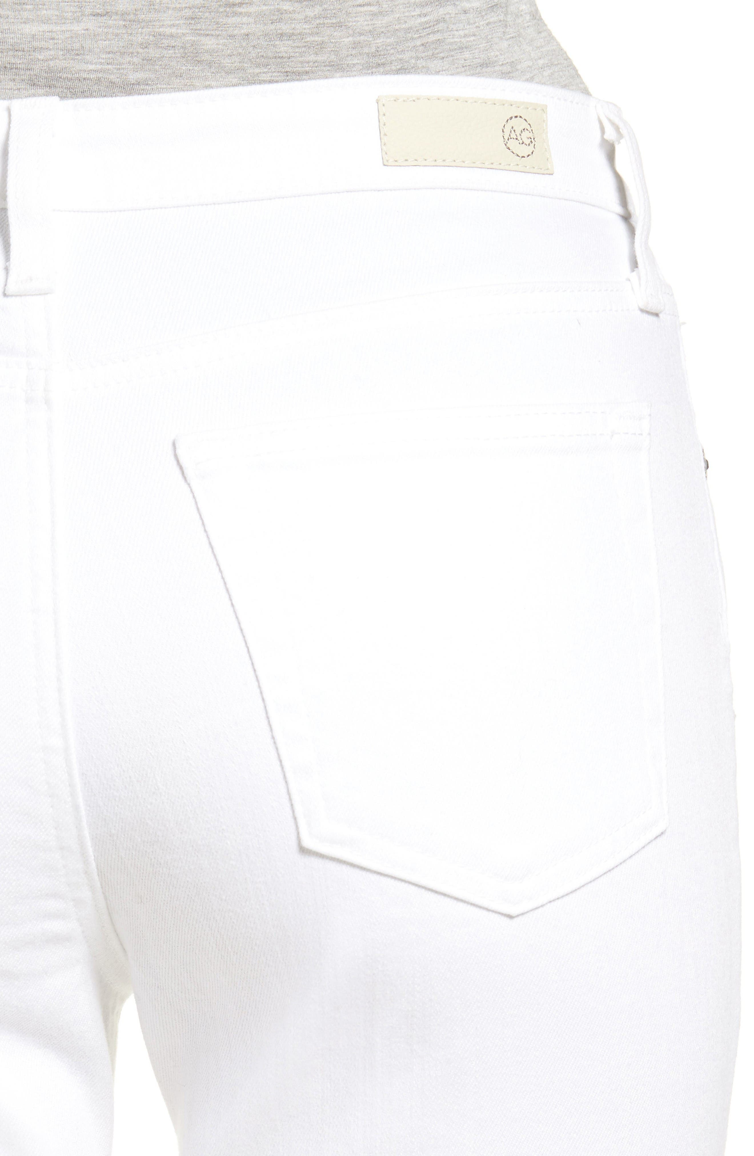 The Isabelle High Waist Crop Straight Leg Jeans,                             Alternate thumbnail 5, color,                             01 Years - White