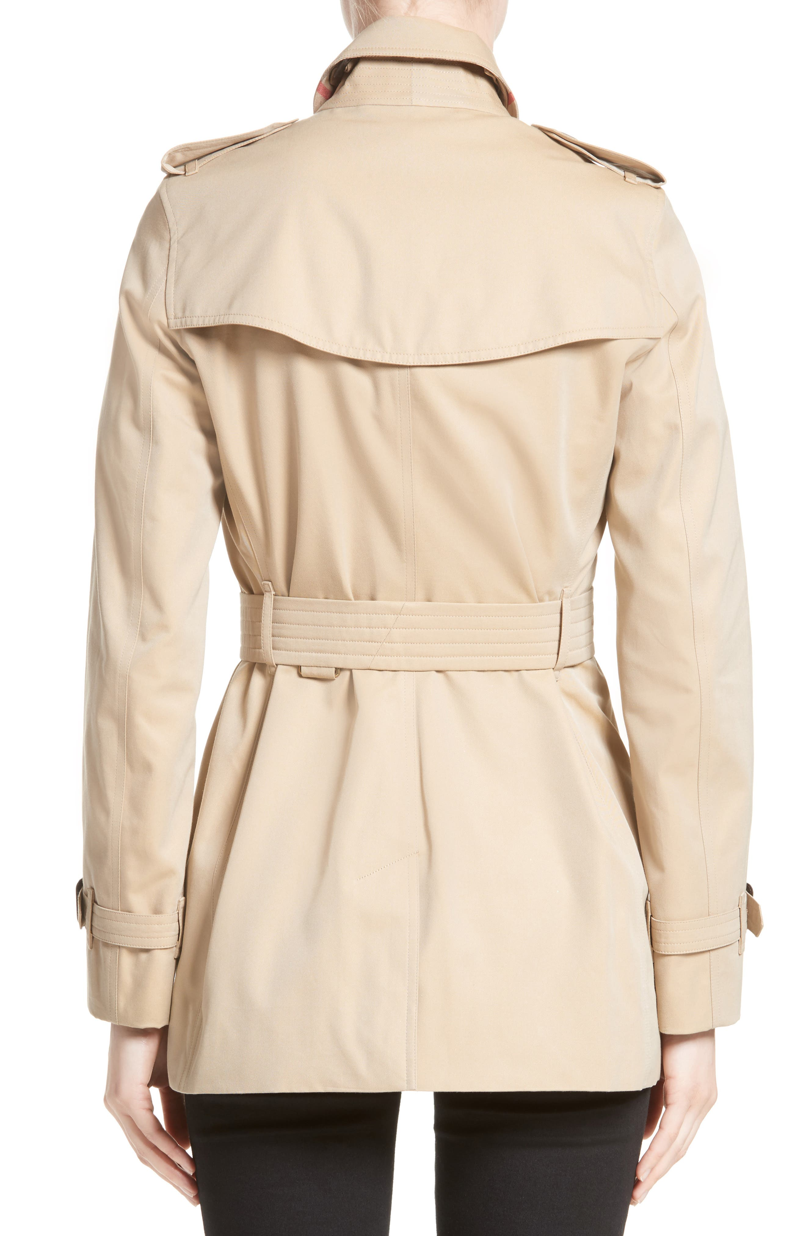 Alternate Image 2  - Burberry Kensington Short Trench Coat