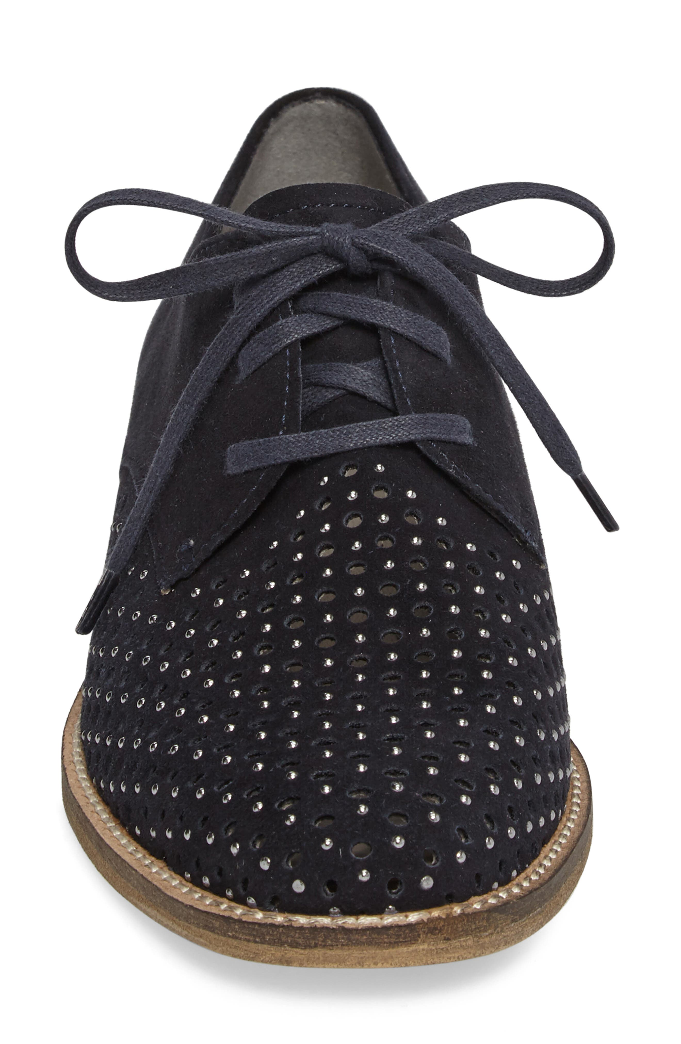Kyleigh Studded Oxford,                             Alternate thumbnail 4, color,                             Midnight Suede