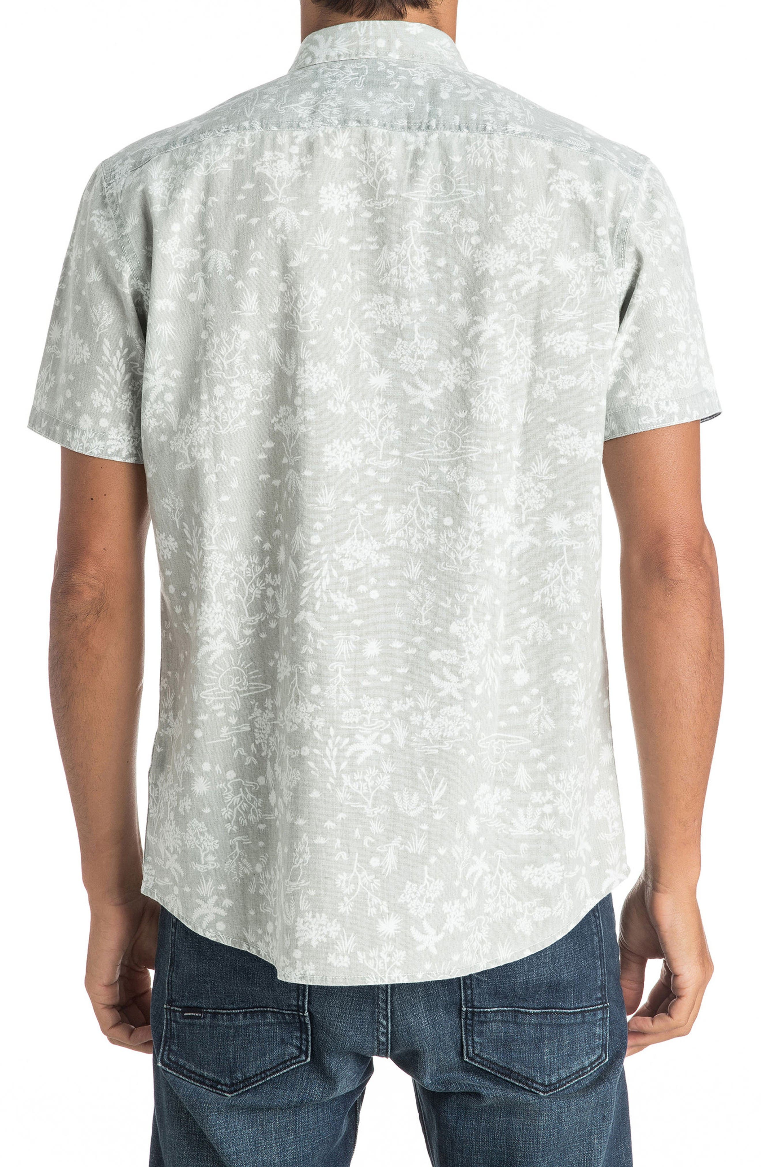Alternate Image 2  - Quiksilver Bloom Field Diver Woven Shirt