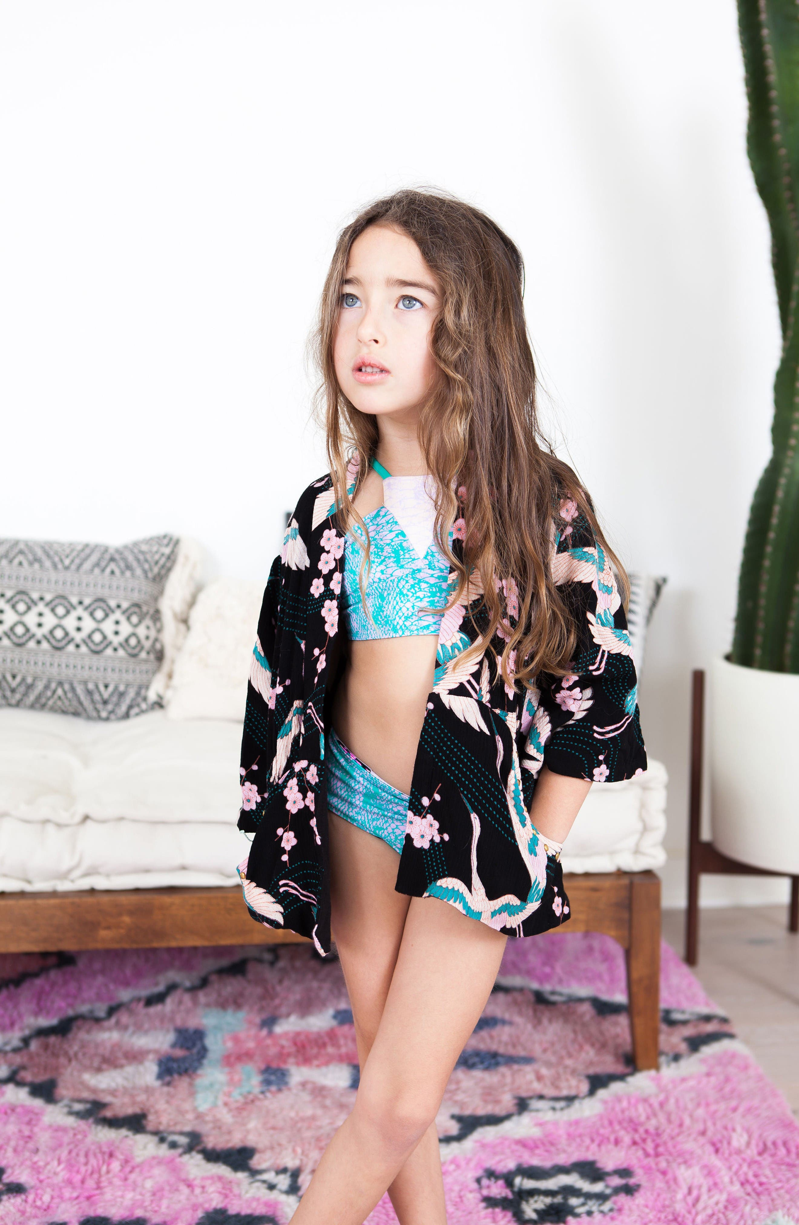 Alternate Image 2  - BOWIE X JAMES Desert Dreams Cover-Up (Toddler Girls, Little Girls & Big Girls)