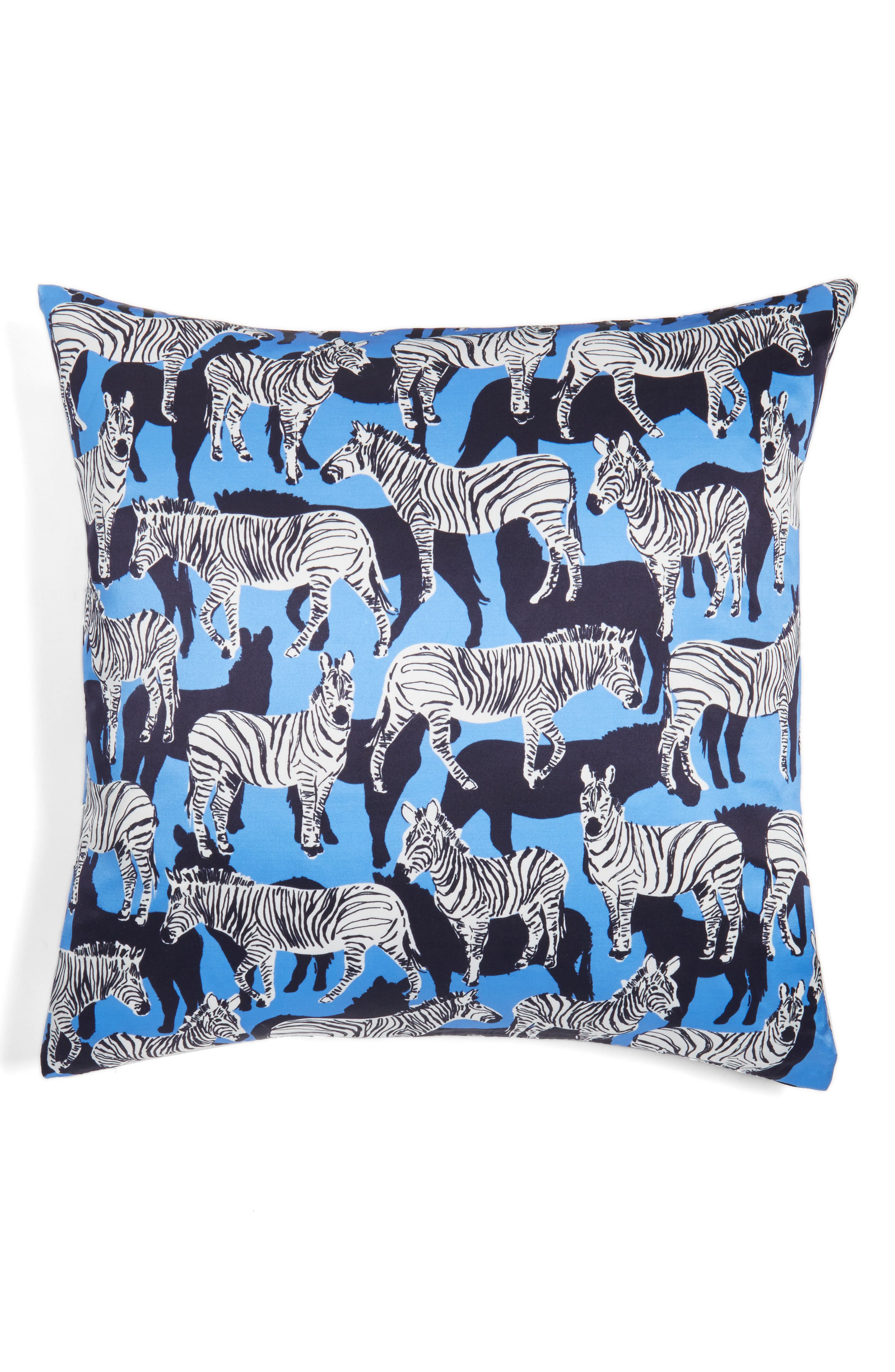 animal accent pillow,                         Main,                         color, Zebra