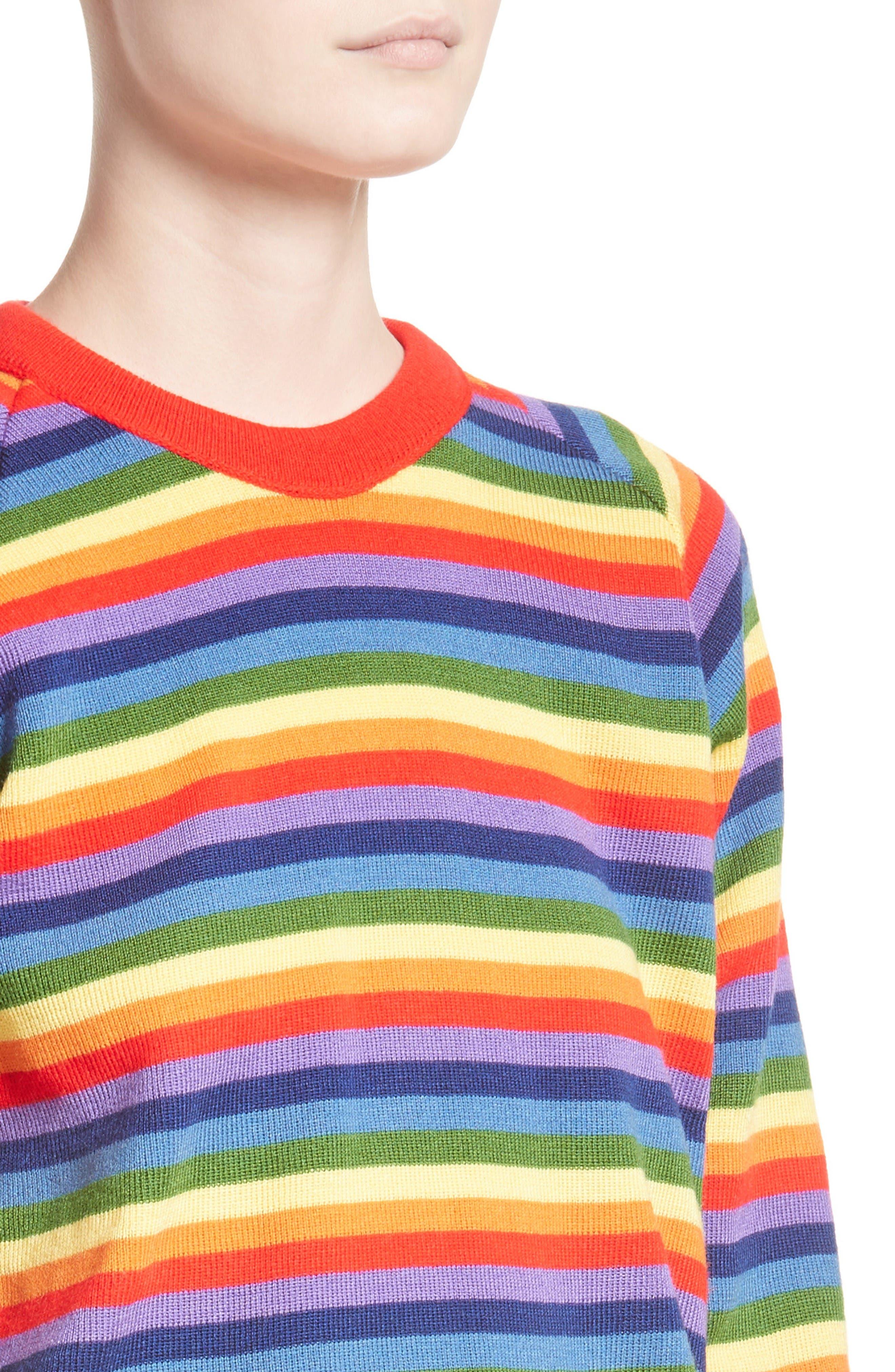 Charlie Rainbow Sweater,                             Alternate thumbnail 6, color,                             Rainbow
