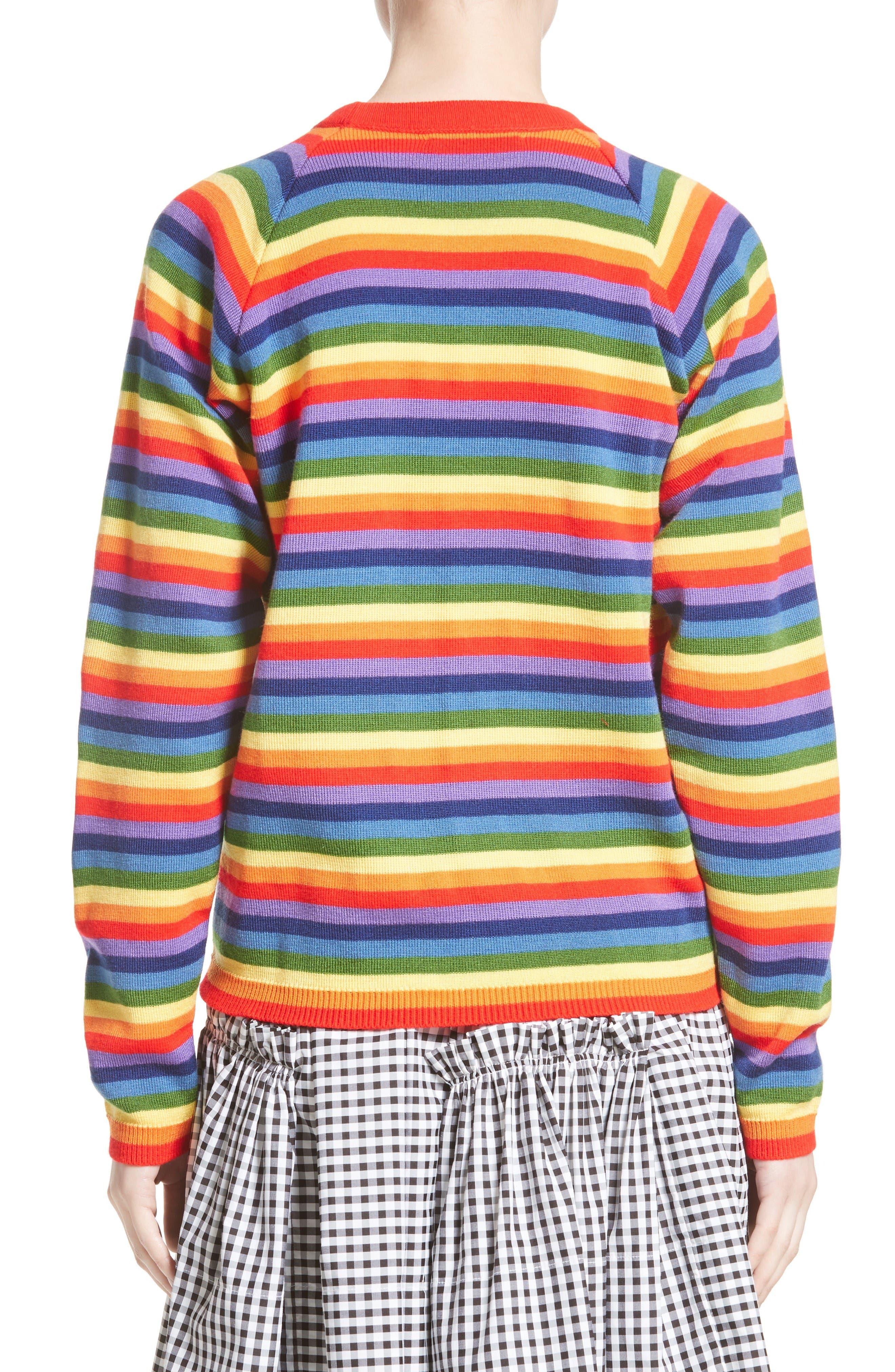 Charlie Rainbow Sweater,                             Alternate thumbnail 2, color,                             Rainbow