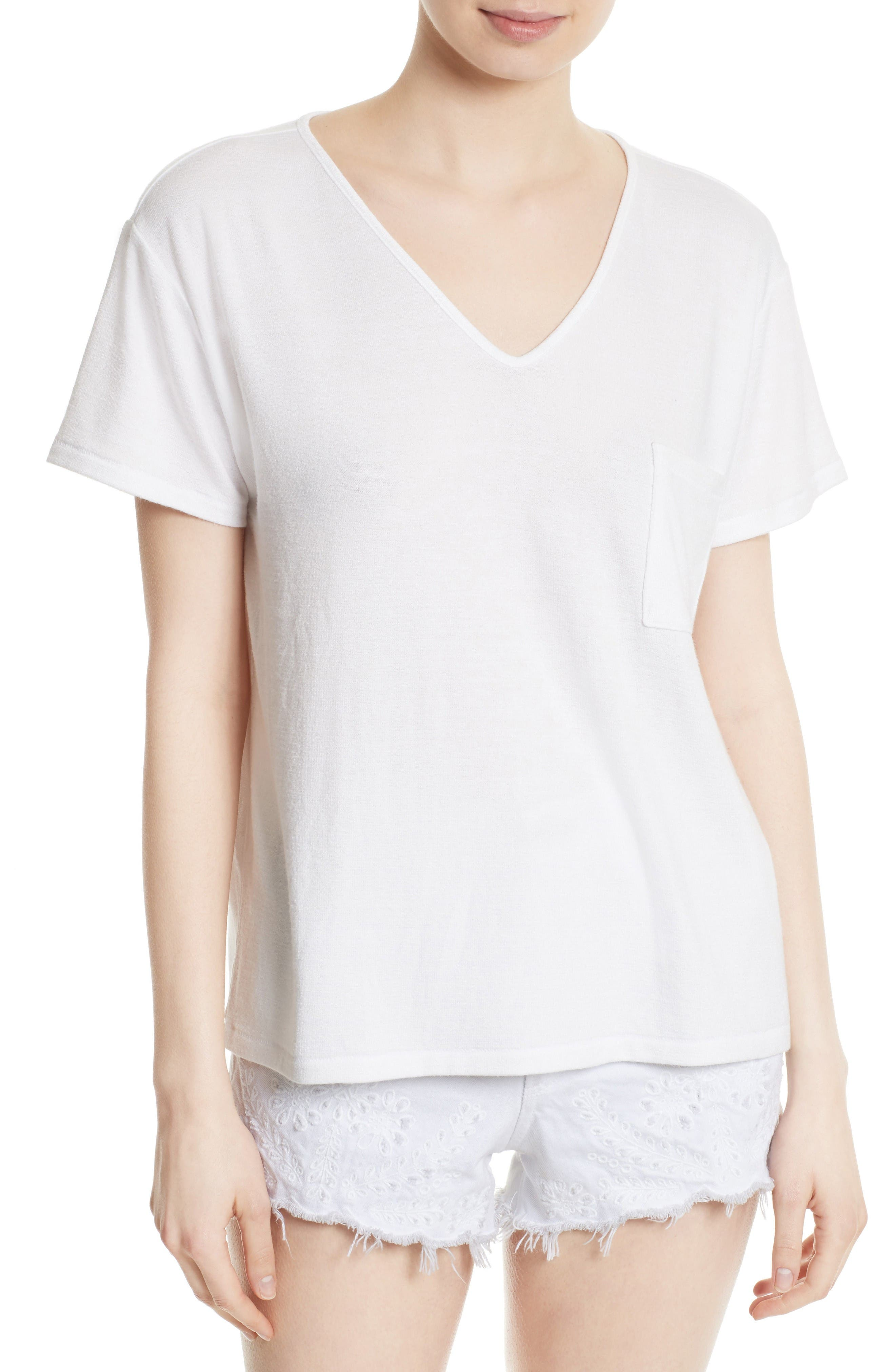 Theo Pocket Tee,                         Main,                         color, Bright White