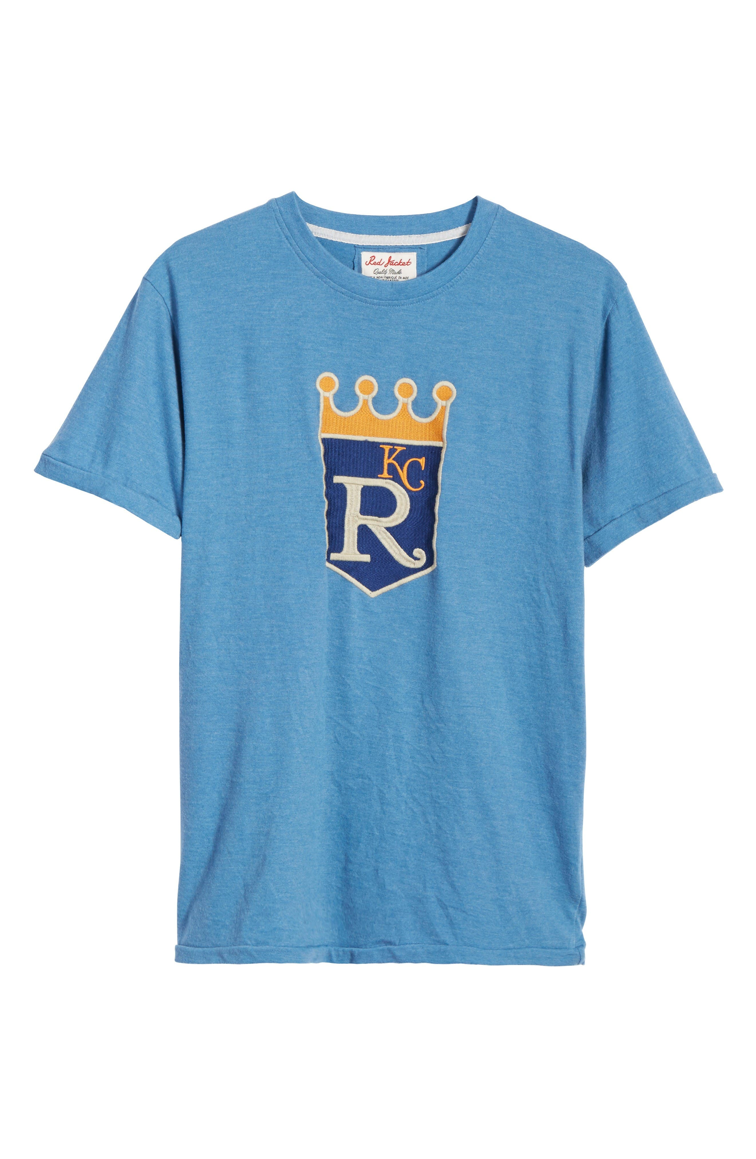 Hillwood Kansas City Royals T-Shirt,                             Alternate thumbnail 6, color,                             Heather Royal