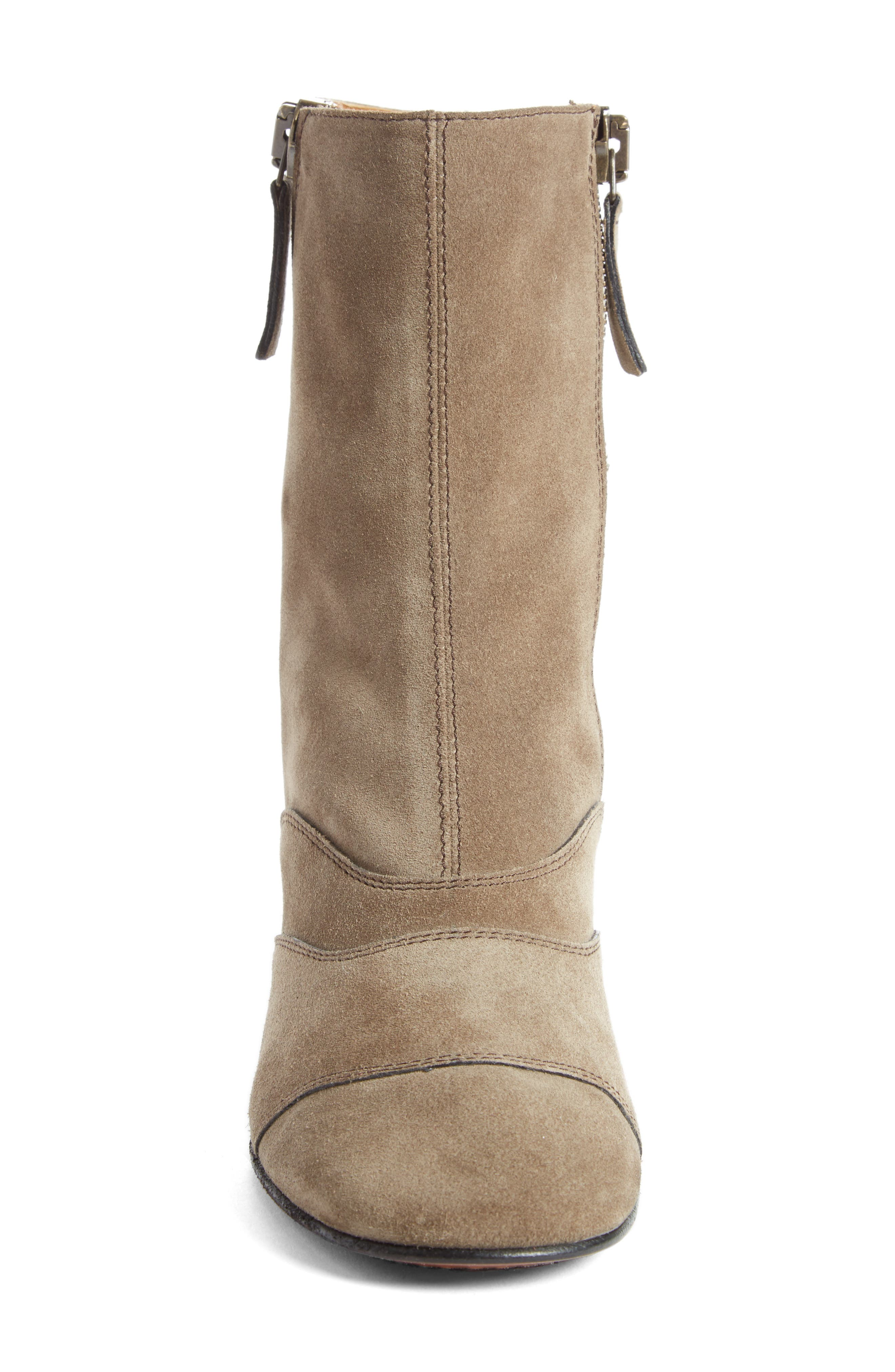 Lexie Block Heel Boot,                             Alternate thumbnail 3, color,                             Dark Greige