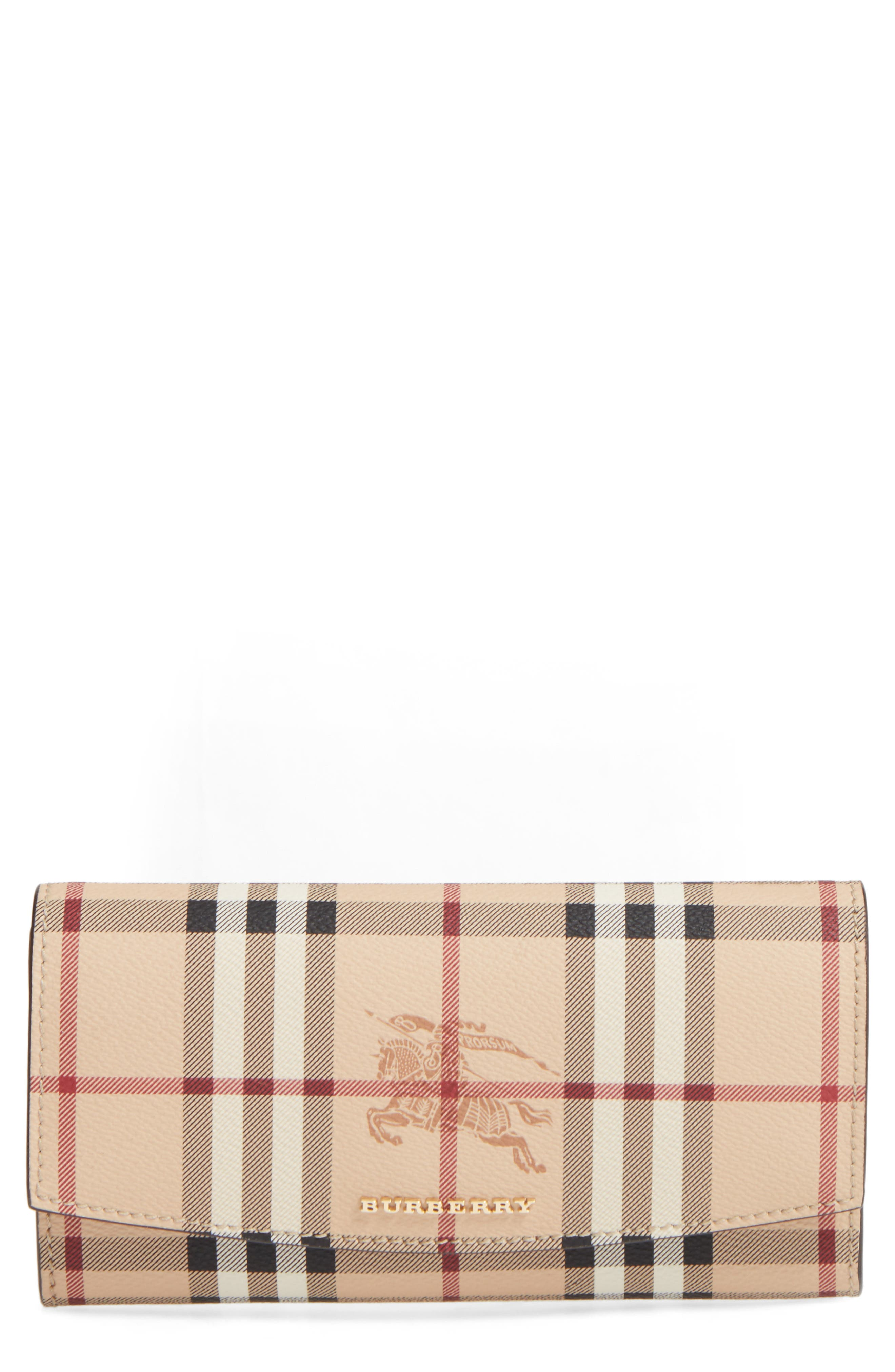 Main Image - Burberry Halton Haymarket Check Continental Wallet