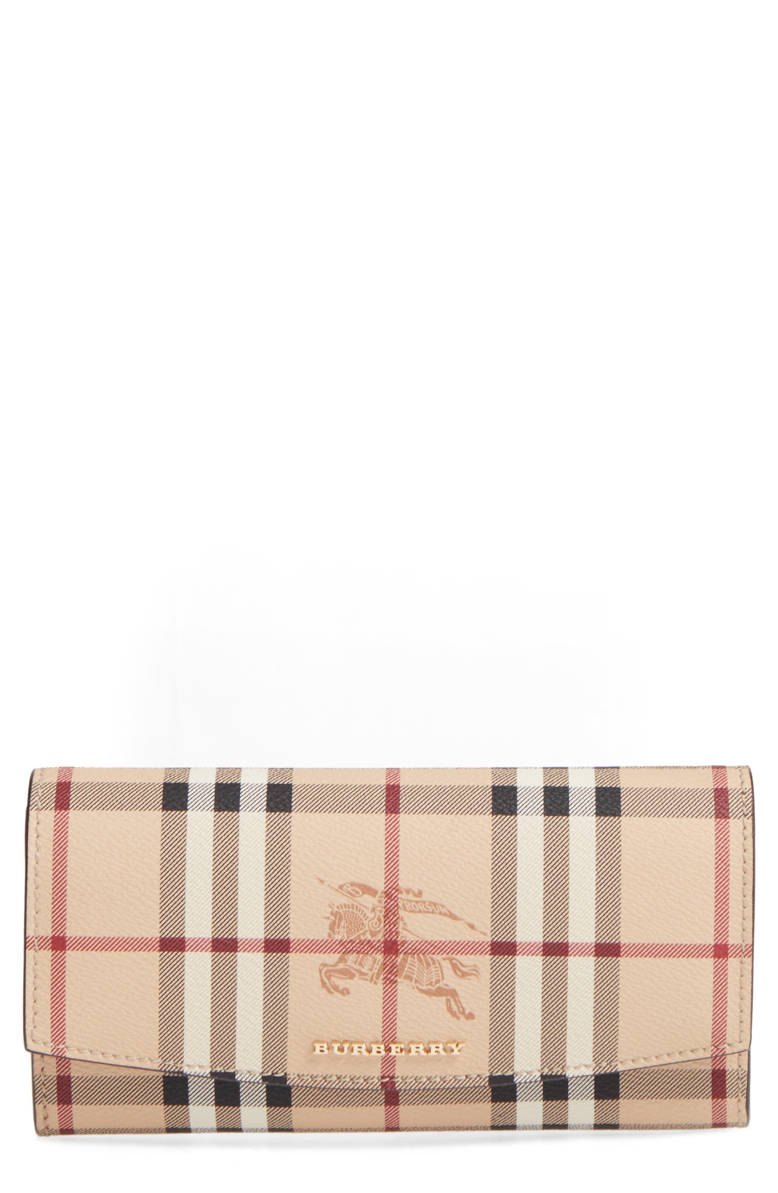 Halton Haymarket Check Continental Wallet,                         Main,                         color, Tan