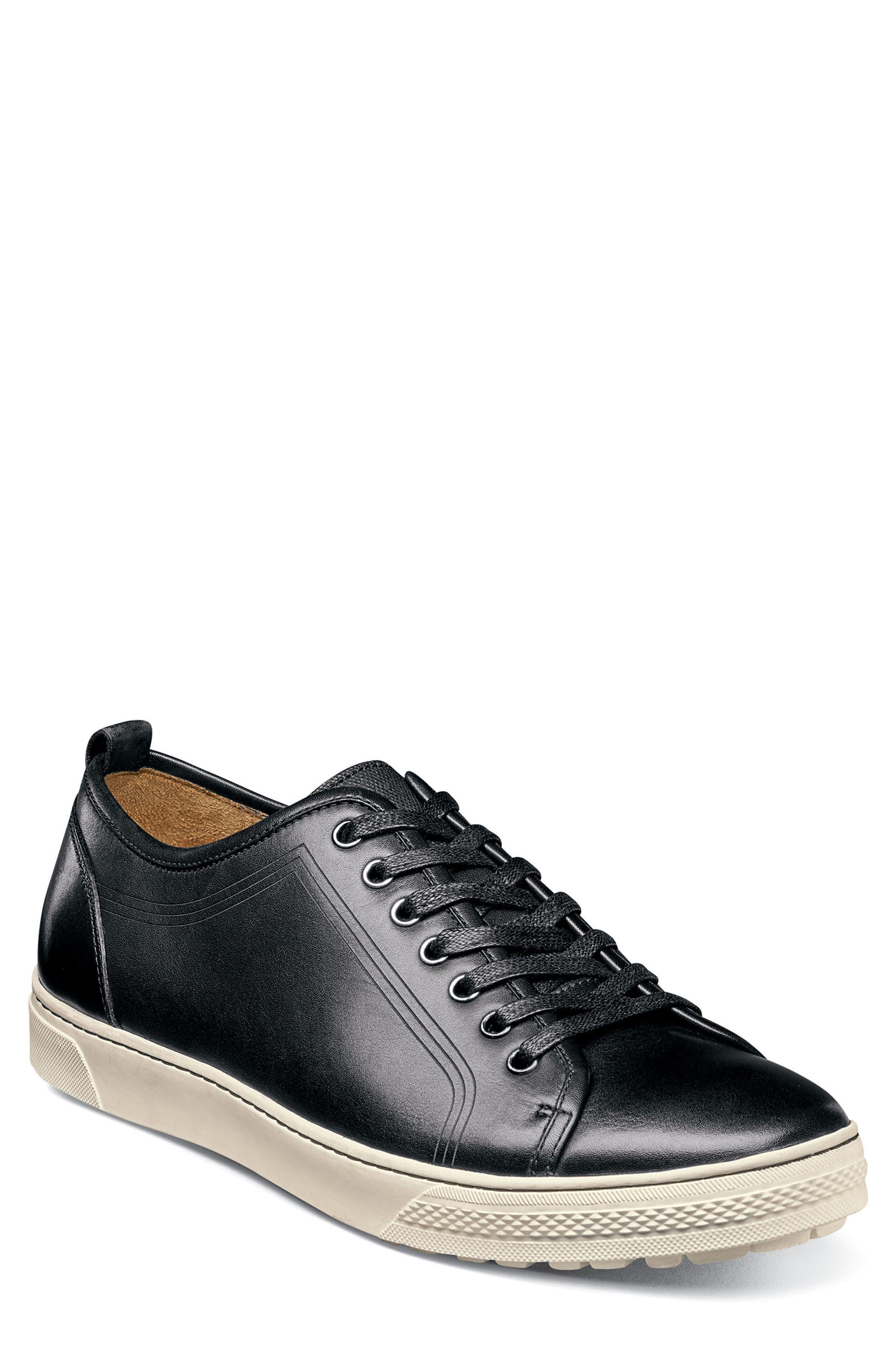 Forward Lo Sneaker,                         Main,                         color, Black/ White Leather