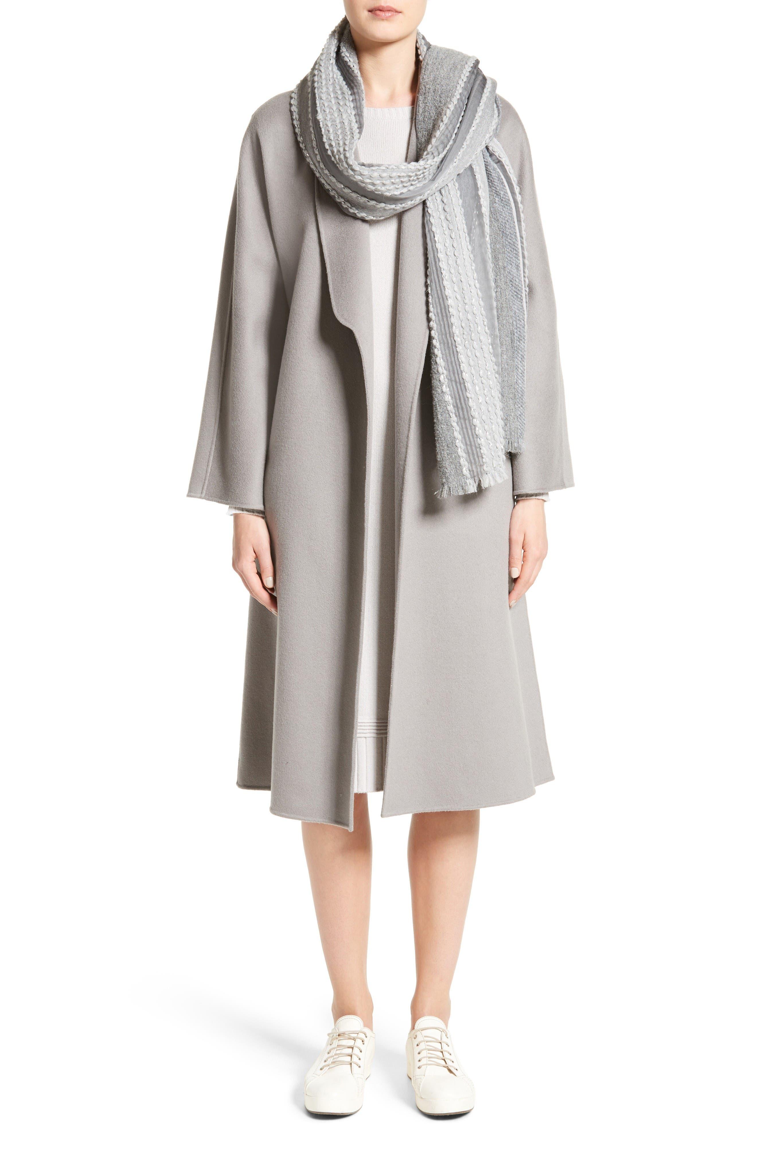 Armani Jeans Knit Sweater Dress,                             Alternate thumbnail 7, color,                             Light Grey