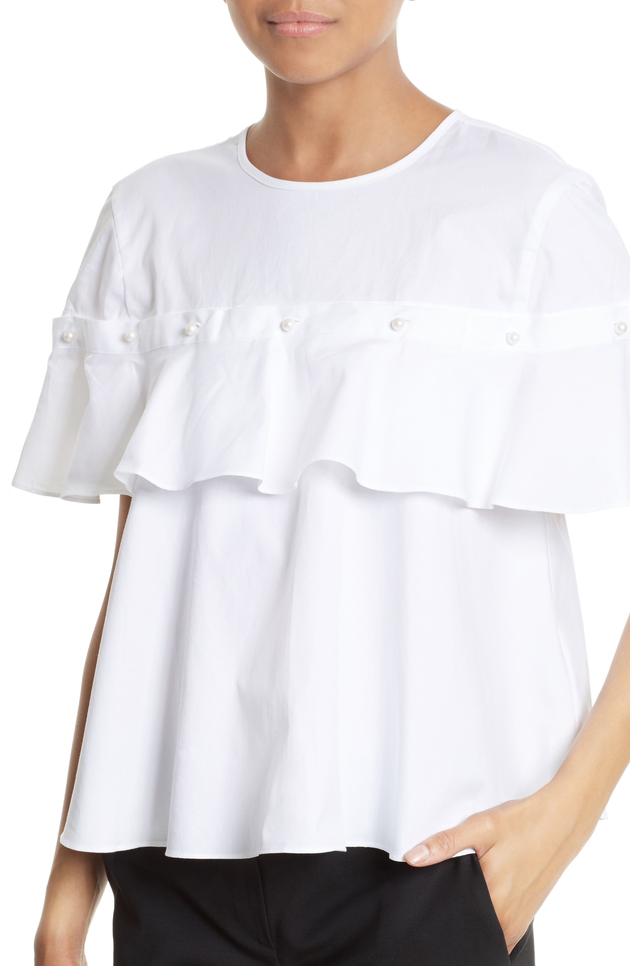 Alternate Image 4  - Jonathan Simkhai Cotton Ruffle Top