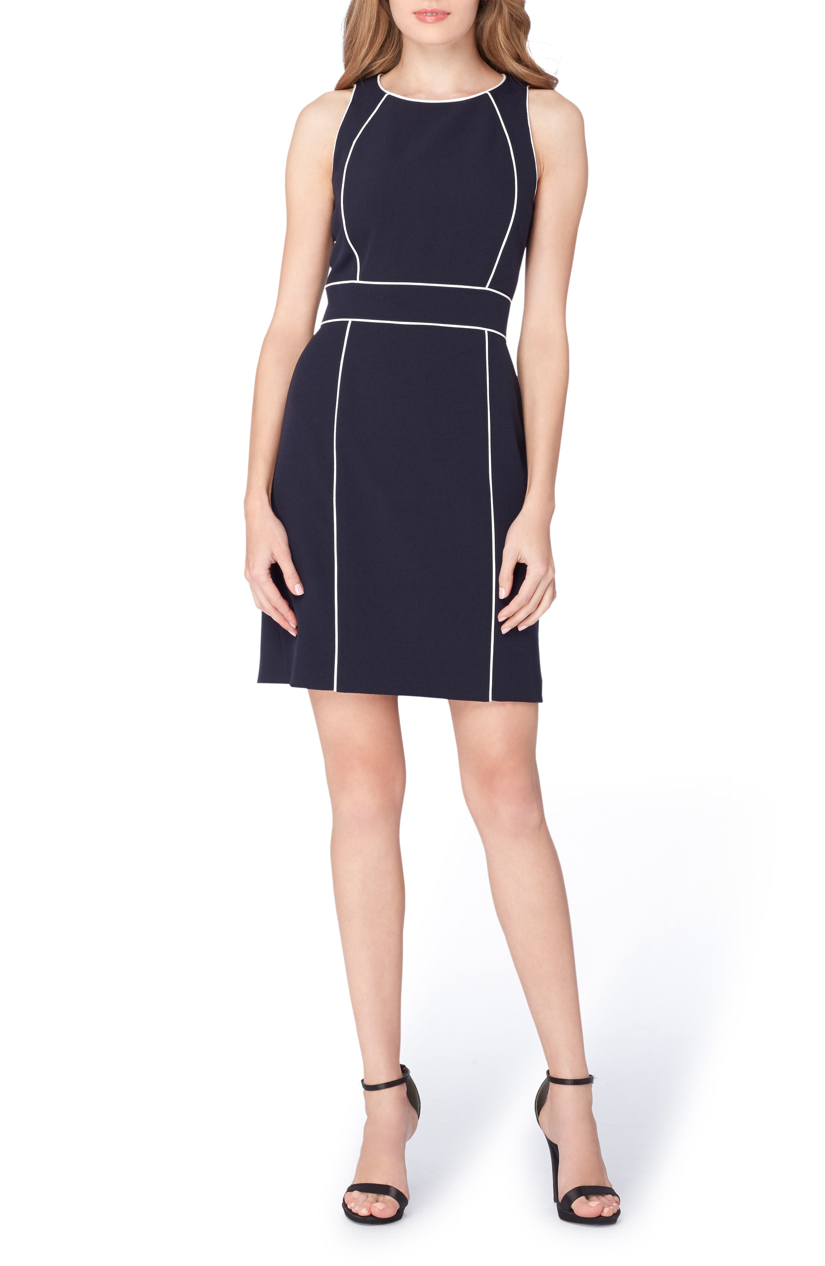 Main Image - Tahari Colorblock Sheath Dress (Regular & Petite)