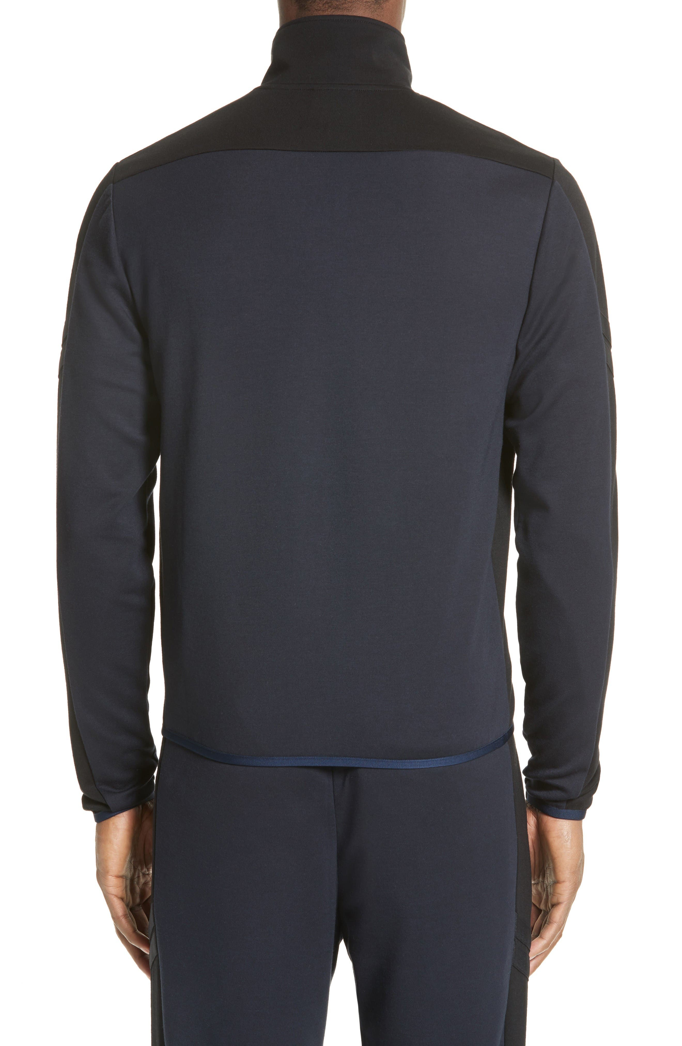 Two-Tone Track Jacket,                             Alternate thumbnail 2, color,                             Navy