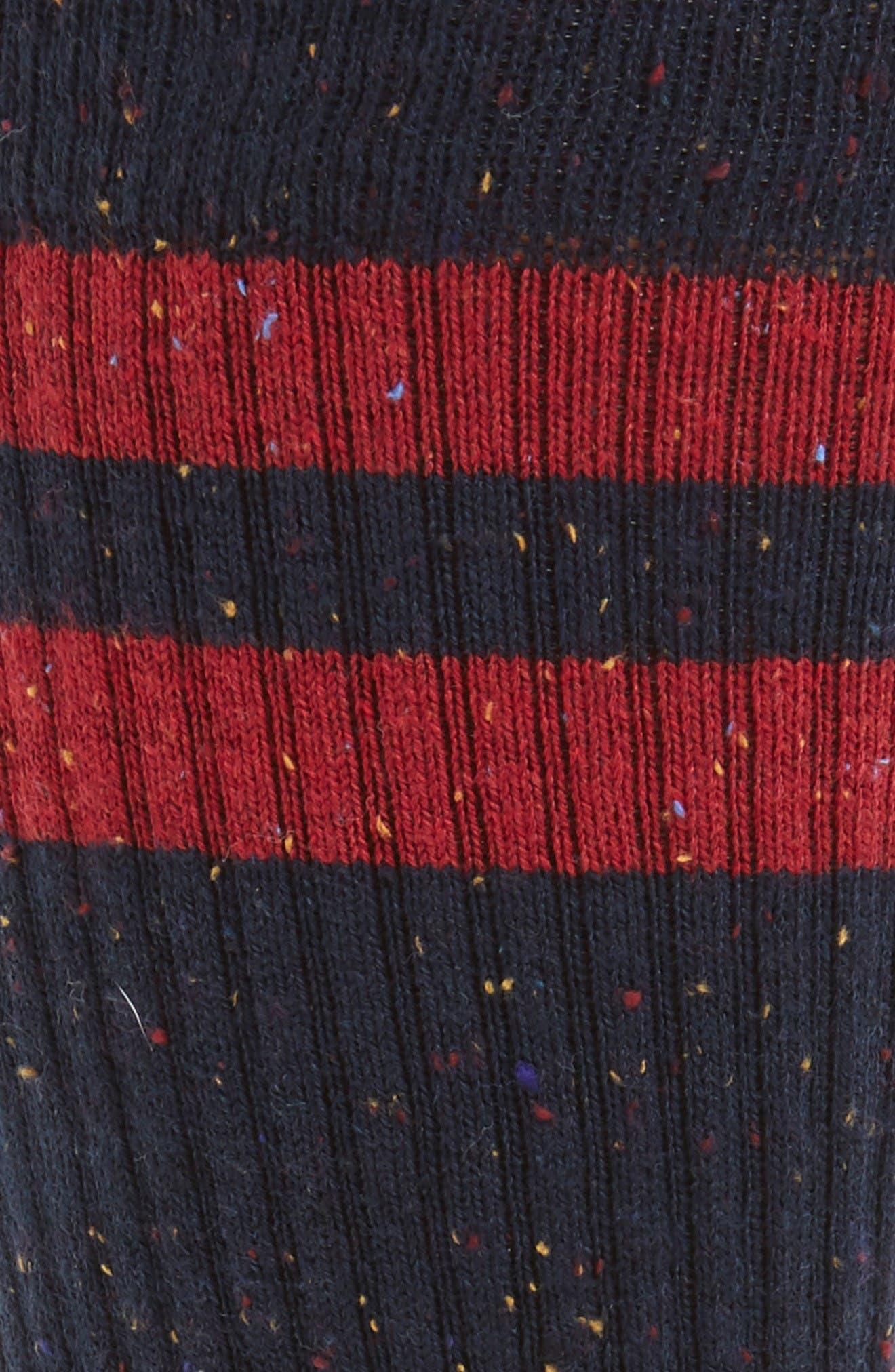 Lopsided Stripe Socks,                             Alternate thumbnail 2, color,                             Red