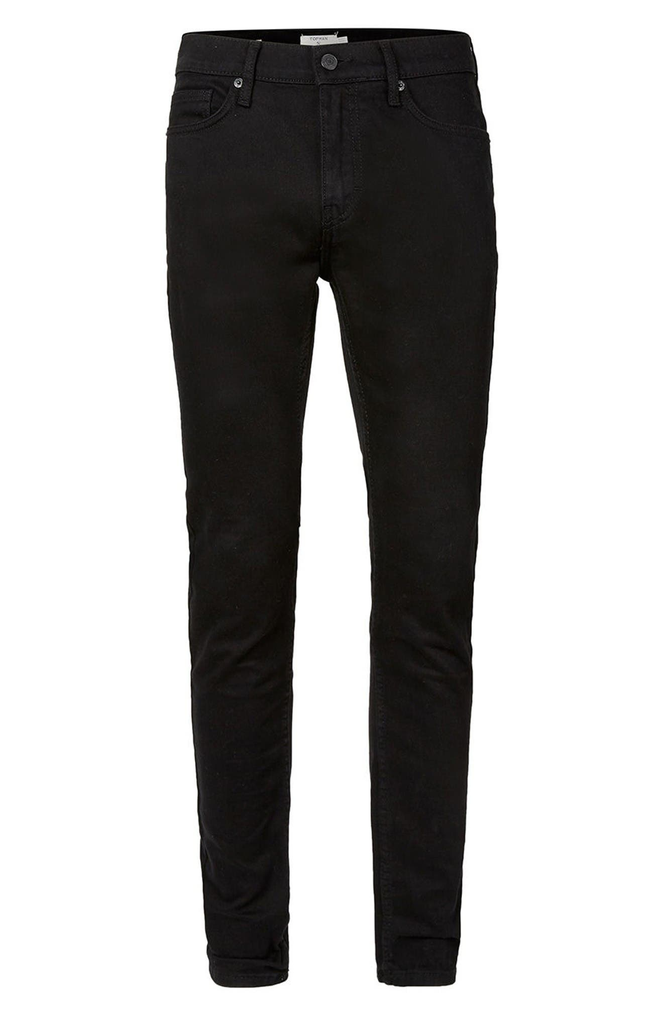 Alternate Image 6  - Topman Skinny Stretch Jeans