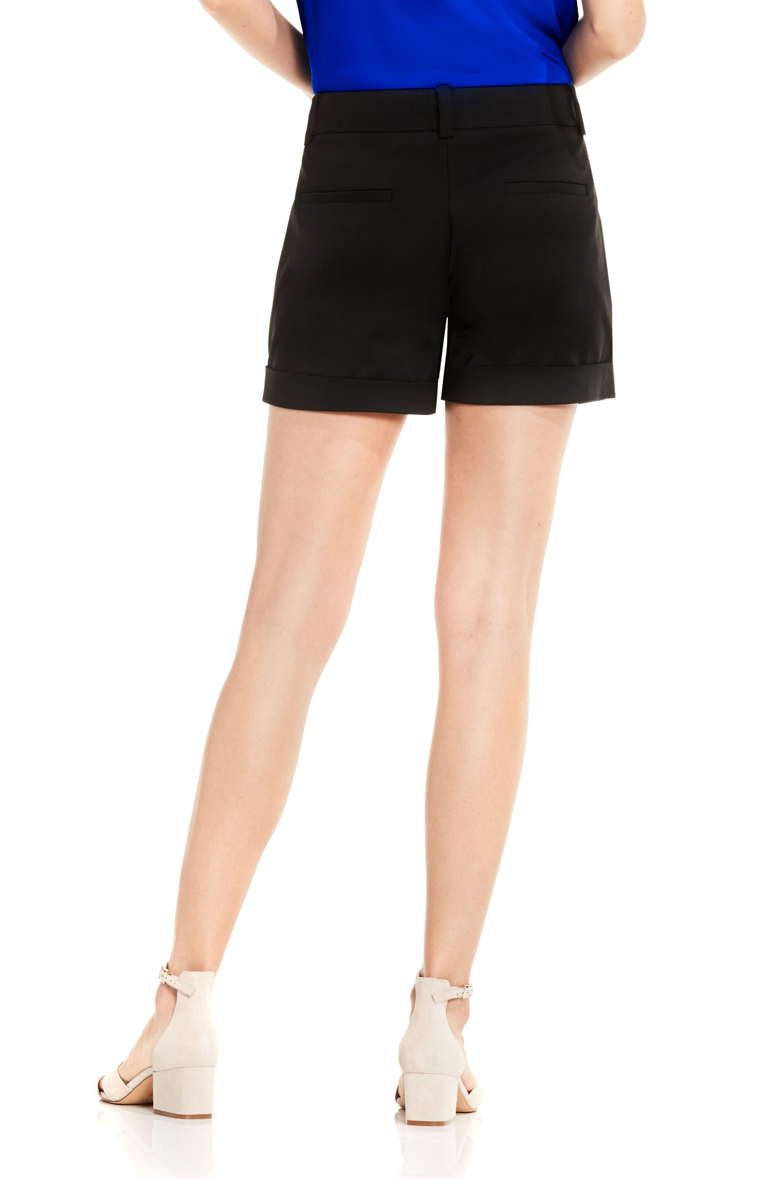 Cuffed Shorts,                             Alternate thumbnail 2, color,                             Rich Black