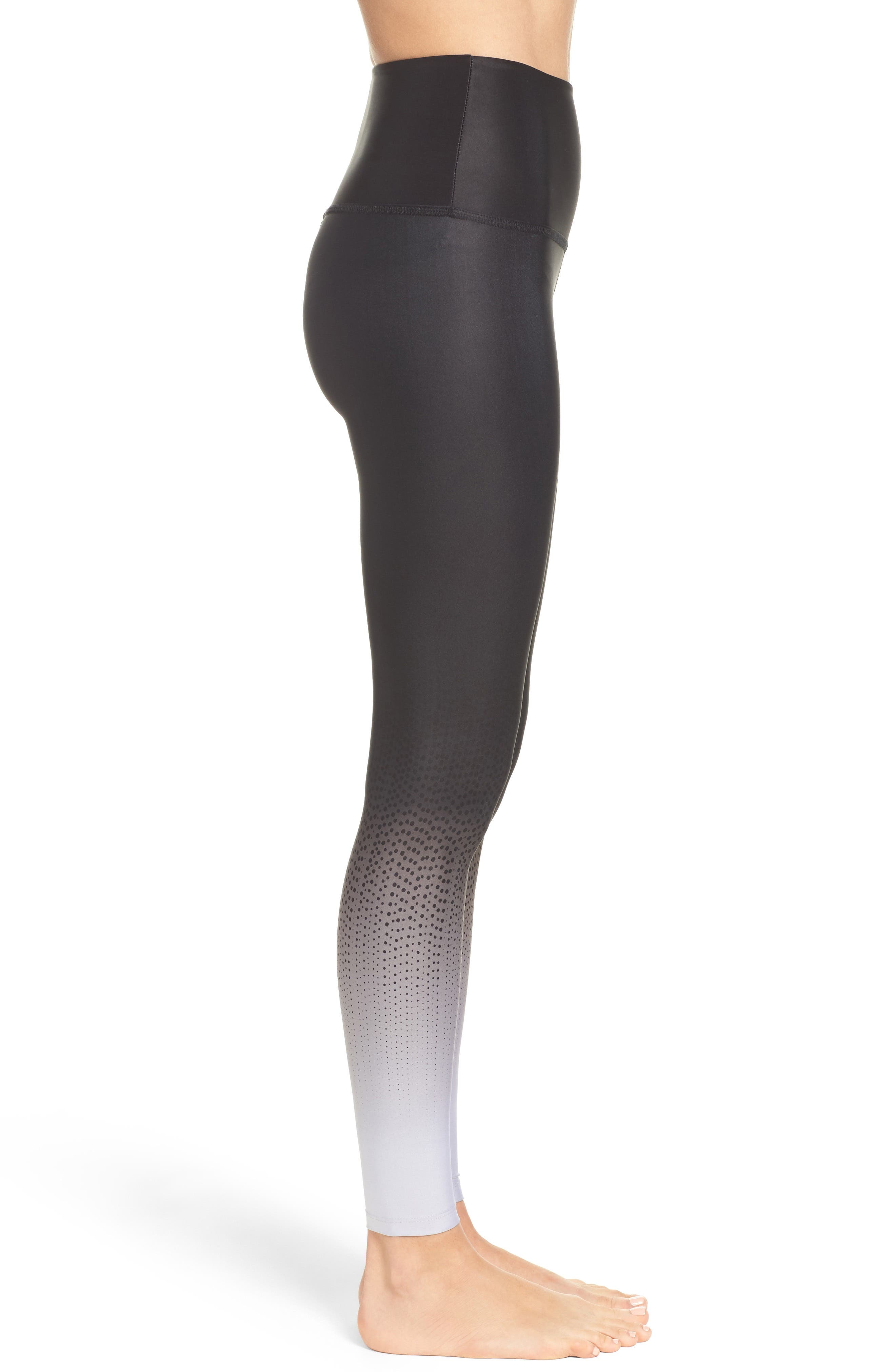 Alternate Image 3  - Beyond Yoga Fade to Black High Waist Leggings