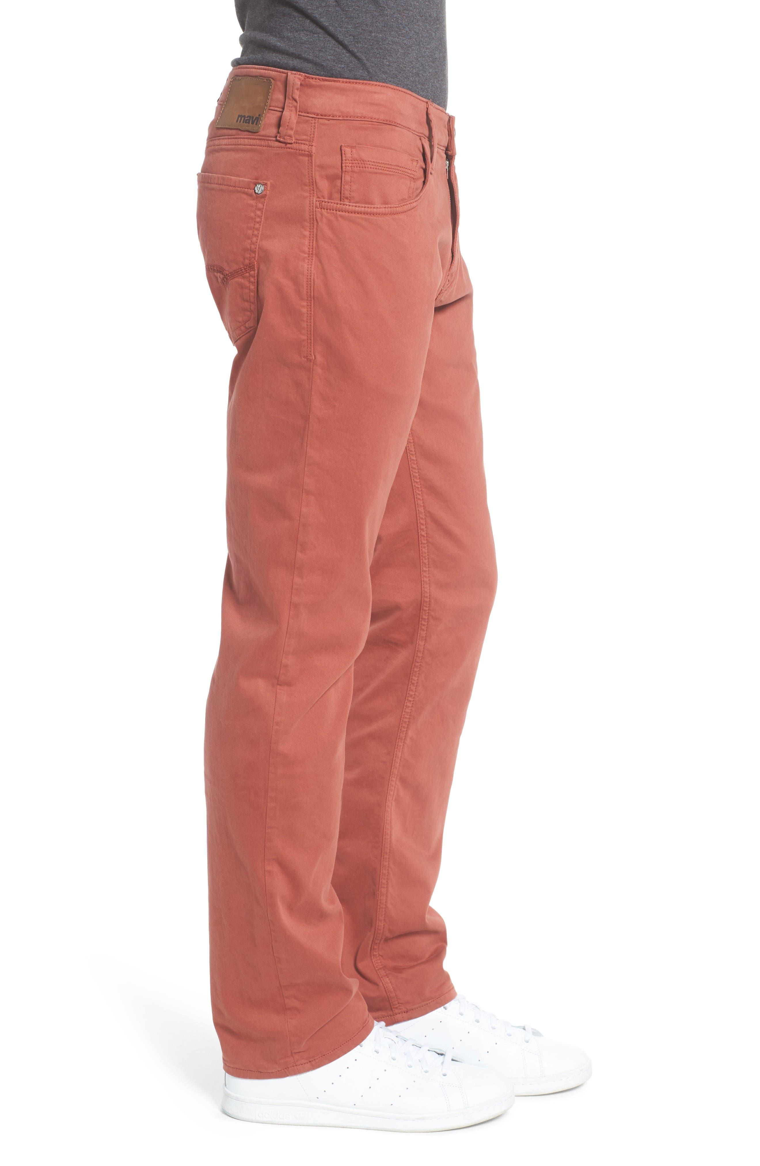 Alternate Image 3  - Mavi Jeans Zach Straight Leg Jeans (Brick Red Twill)