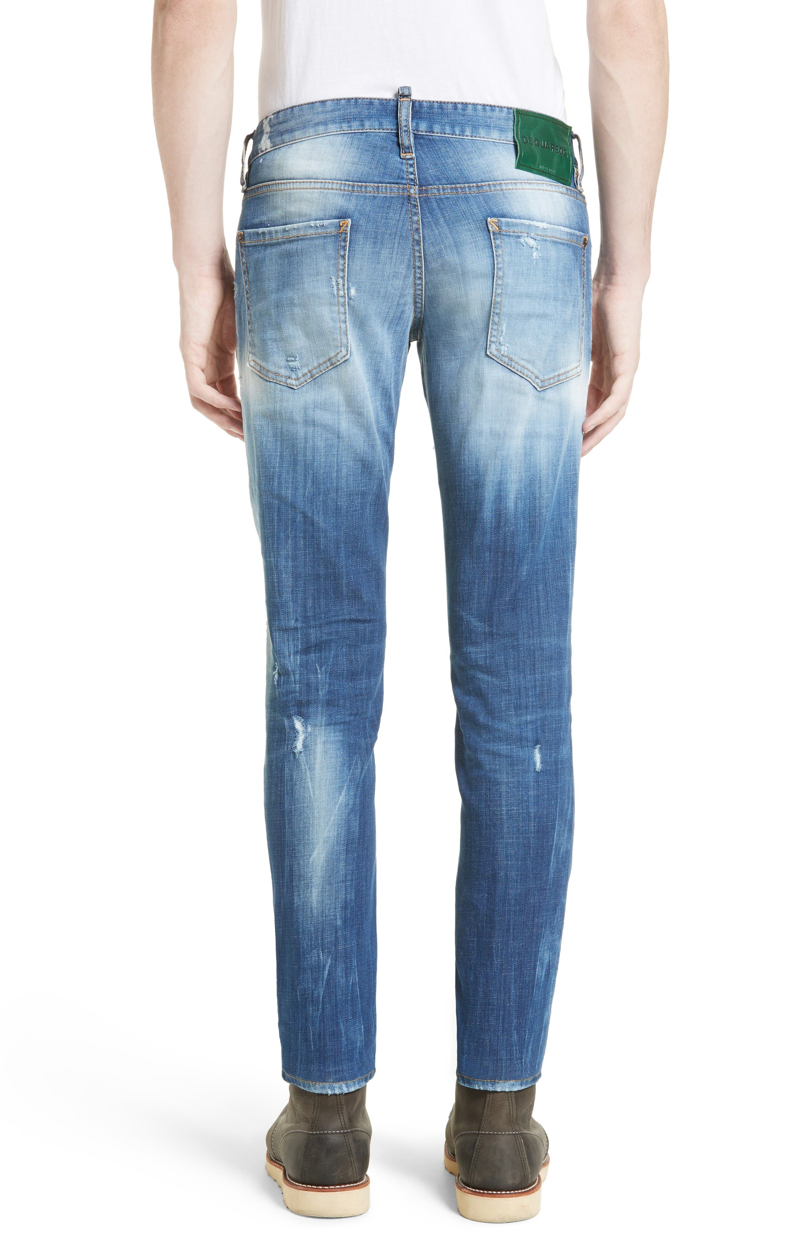 Fade Out Slim Fit Jeans,                             Alternate thumbnail 2, color,                             Blue