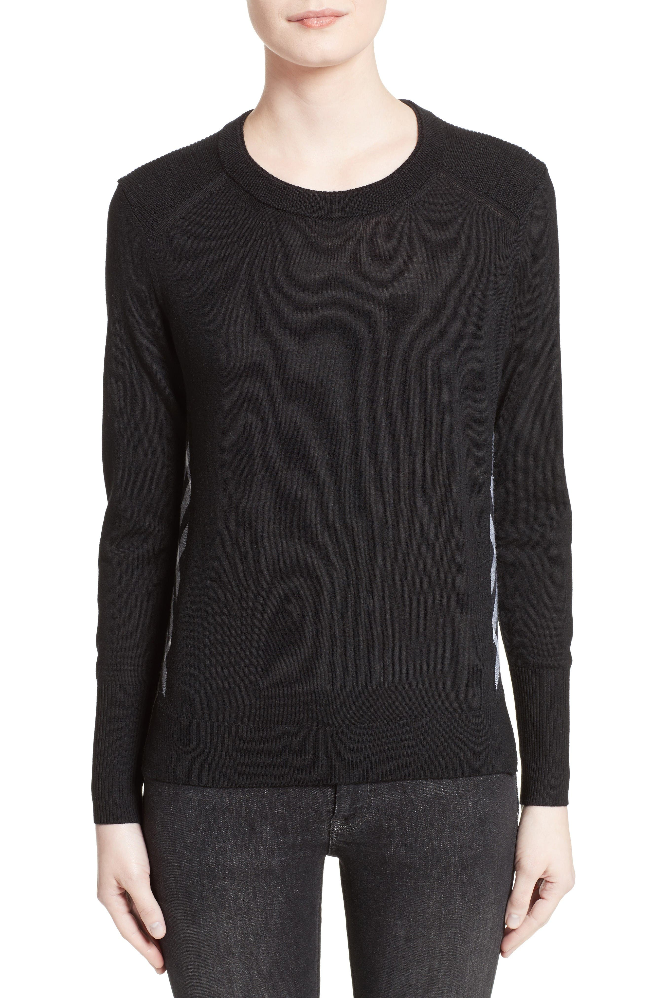 Alternate Image 1 Selected - Burberry Meigan Merino Wool Sweater