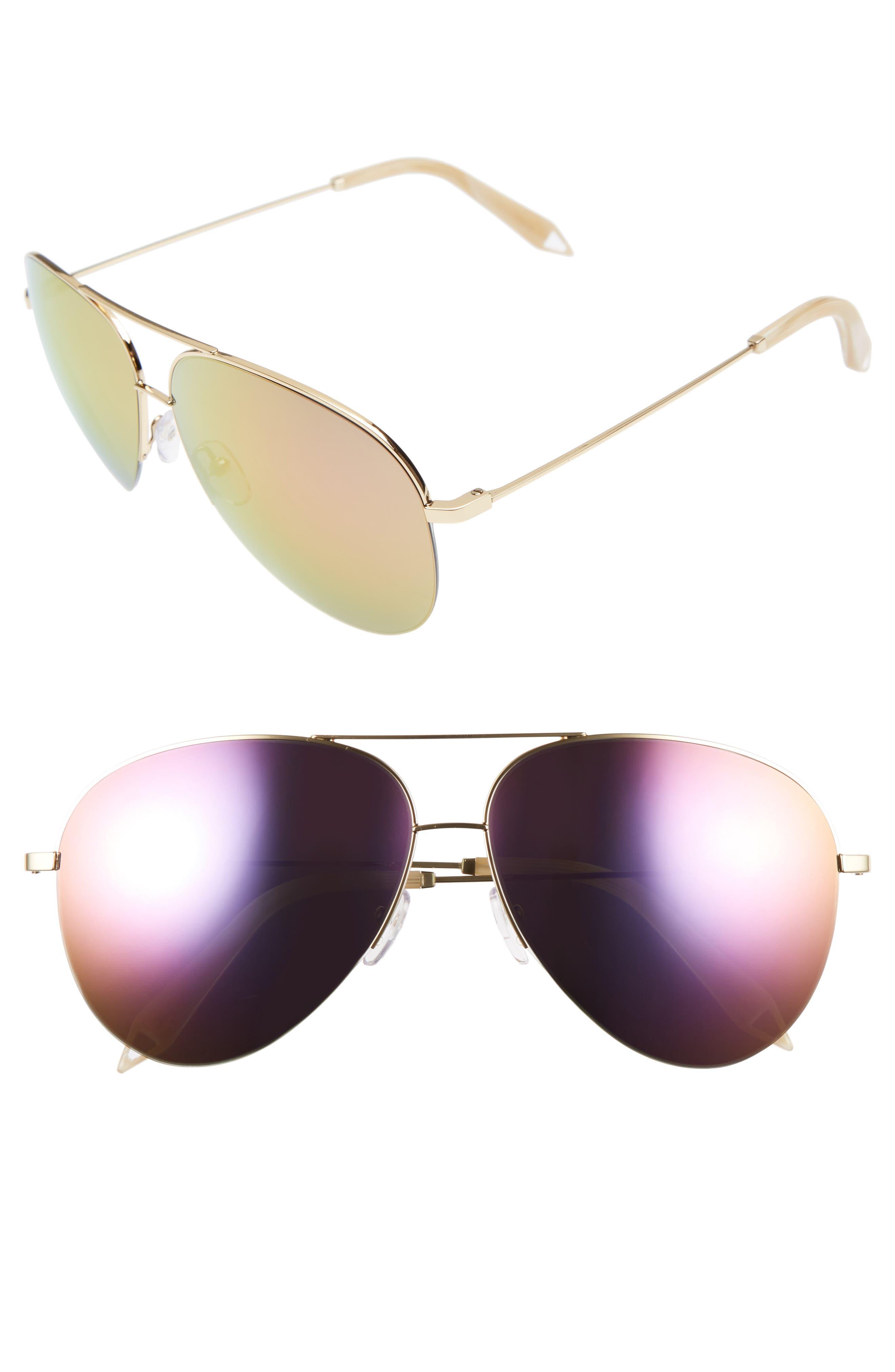 Classic Victoria 62mm Sunglasses,                         Main,                         color, Desert Rose Mirror
