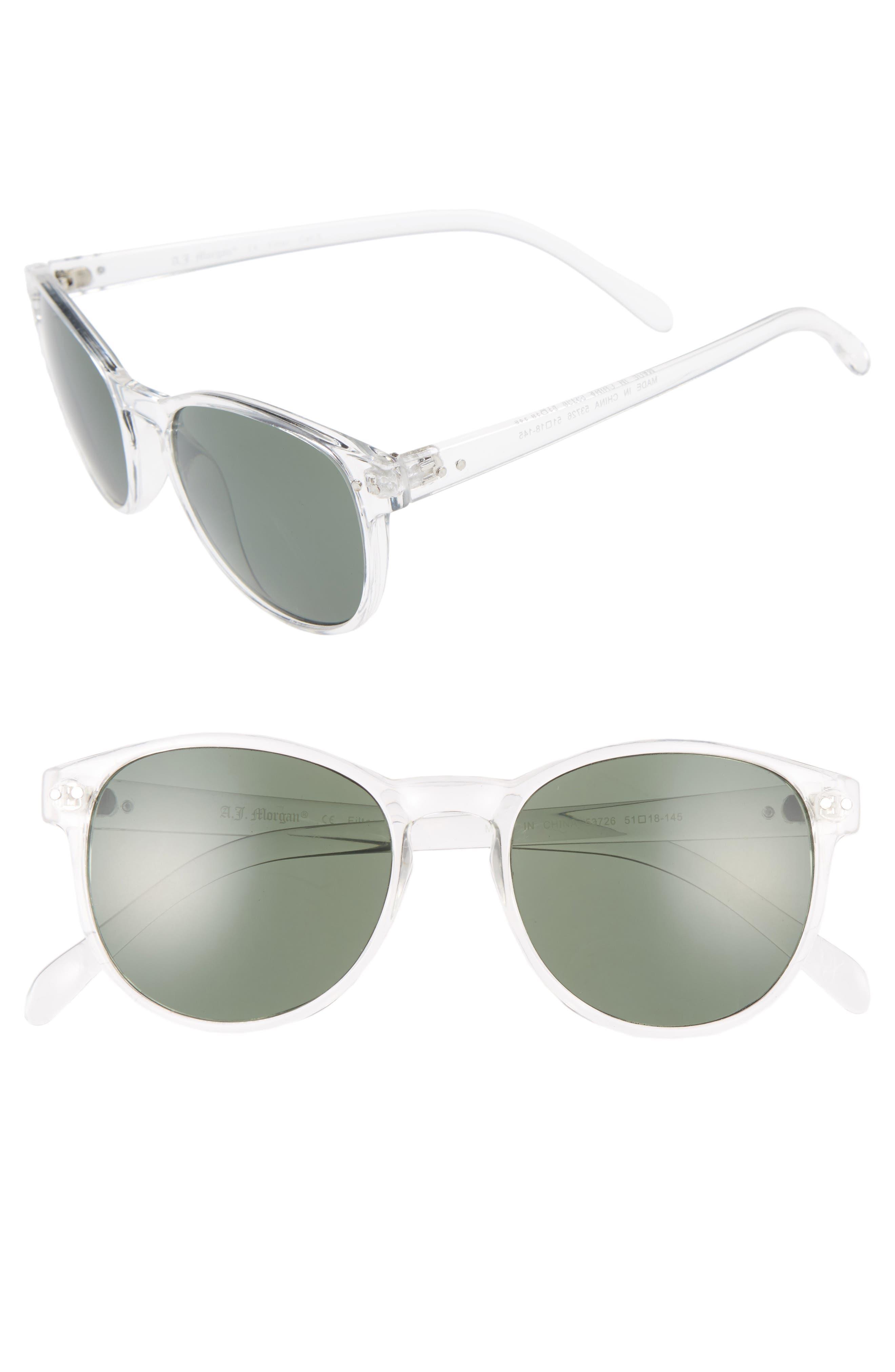 Daily 57mm Sunglasses,                             Main thumbnail 1, color,                             Crystal