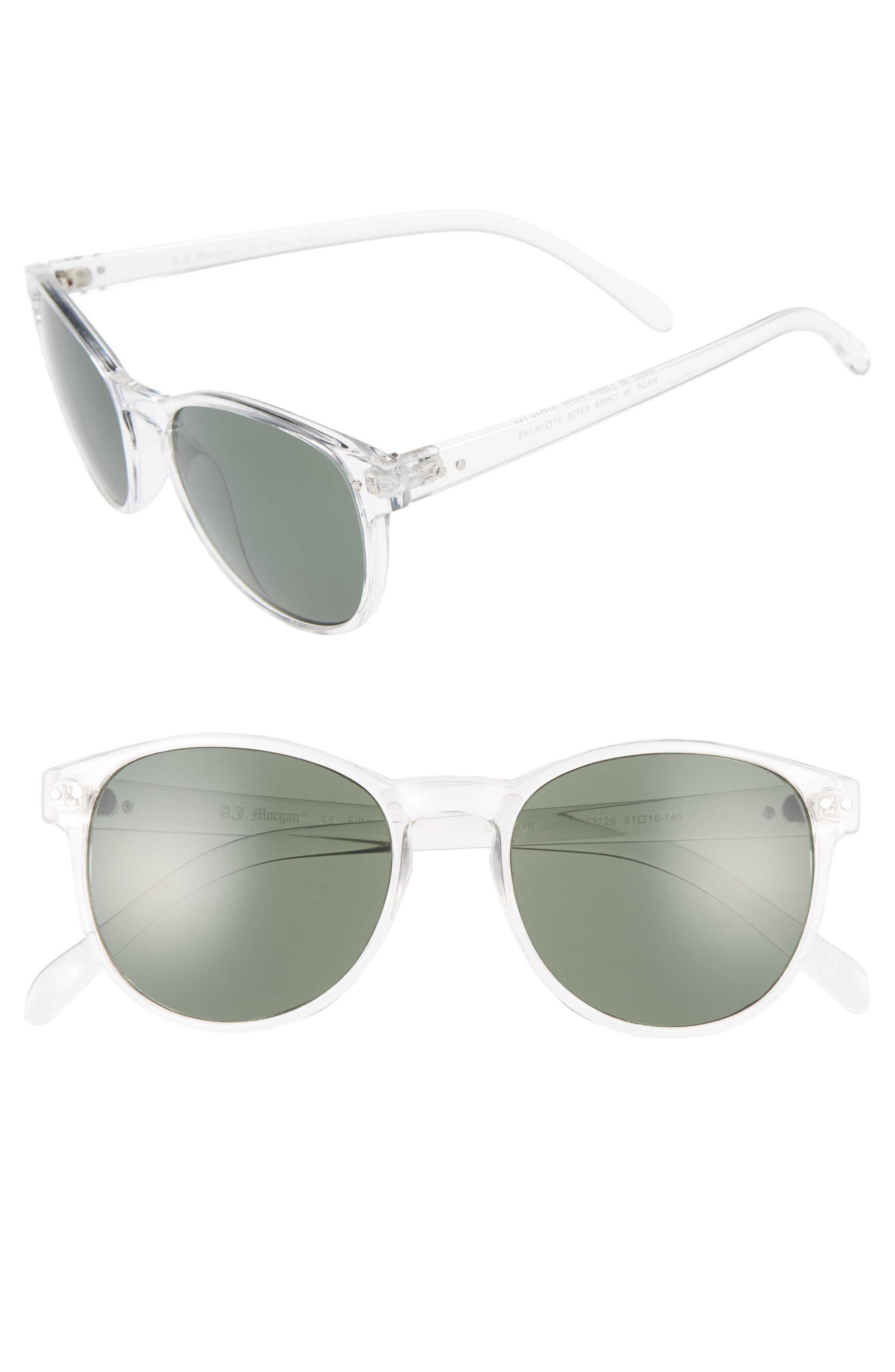 Daily 57mm Sunglasses,                         Main,                         color, Crystal