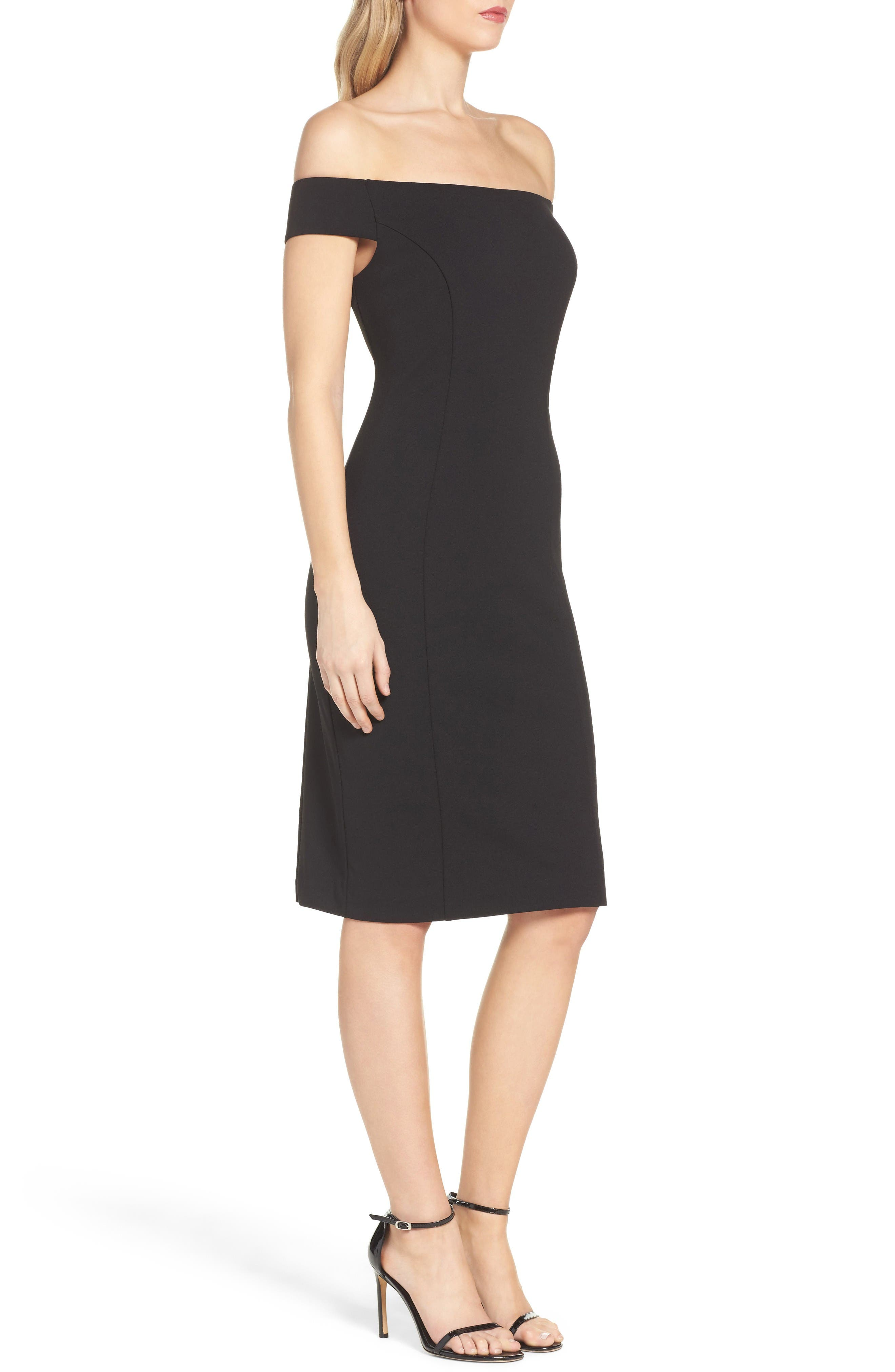 Alternate Image 3  - Vince Camuto Crepe Sheath Dress (Regular & Petite)