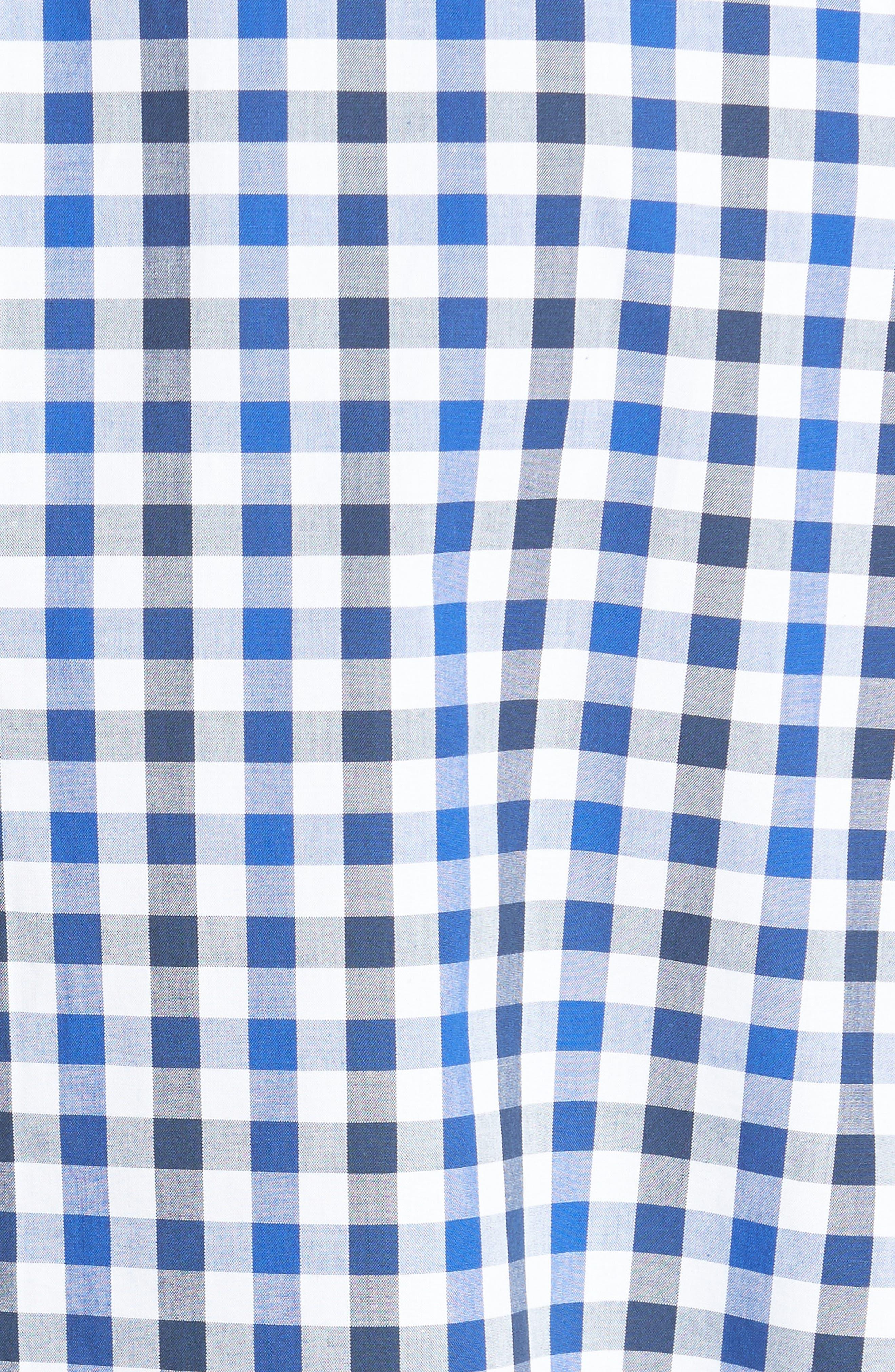 Tomlin Check Sport Shirt,                             Alternate thumbnail 5, color,                             Navy Check