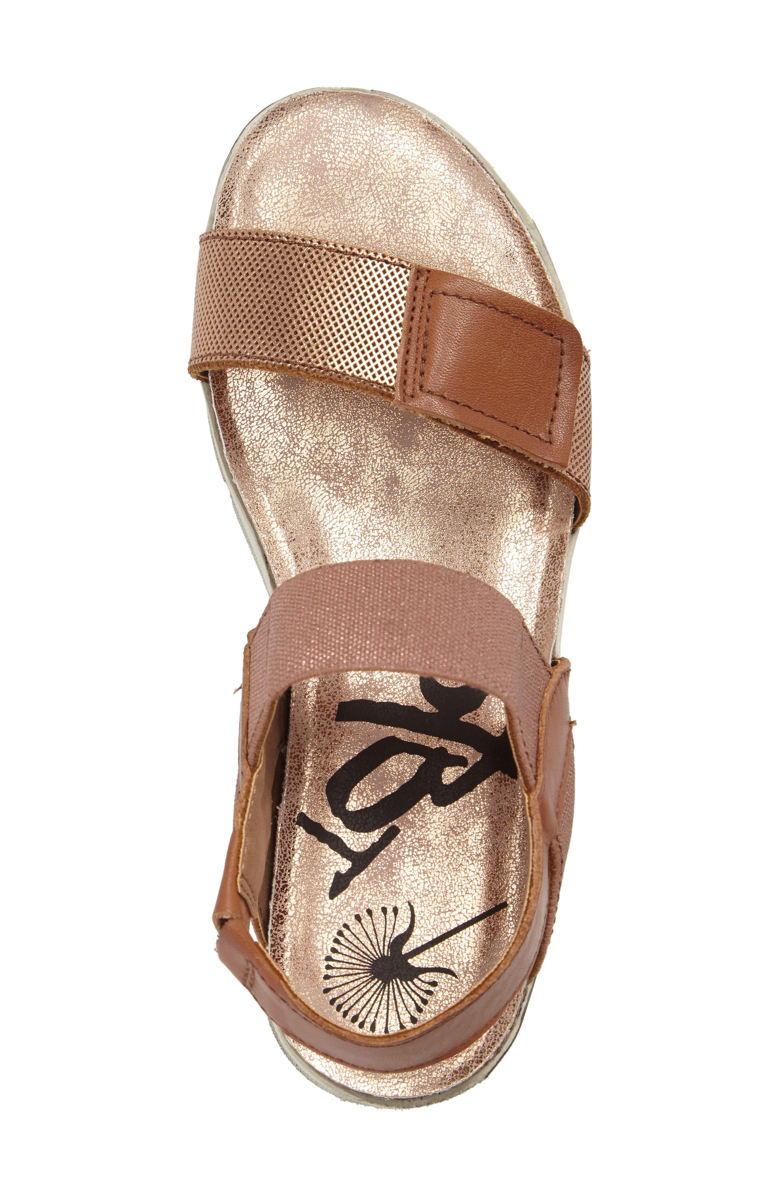 Nova Platform Sandal,                             Alternate thumbnail 5, color,                             Copper Leather