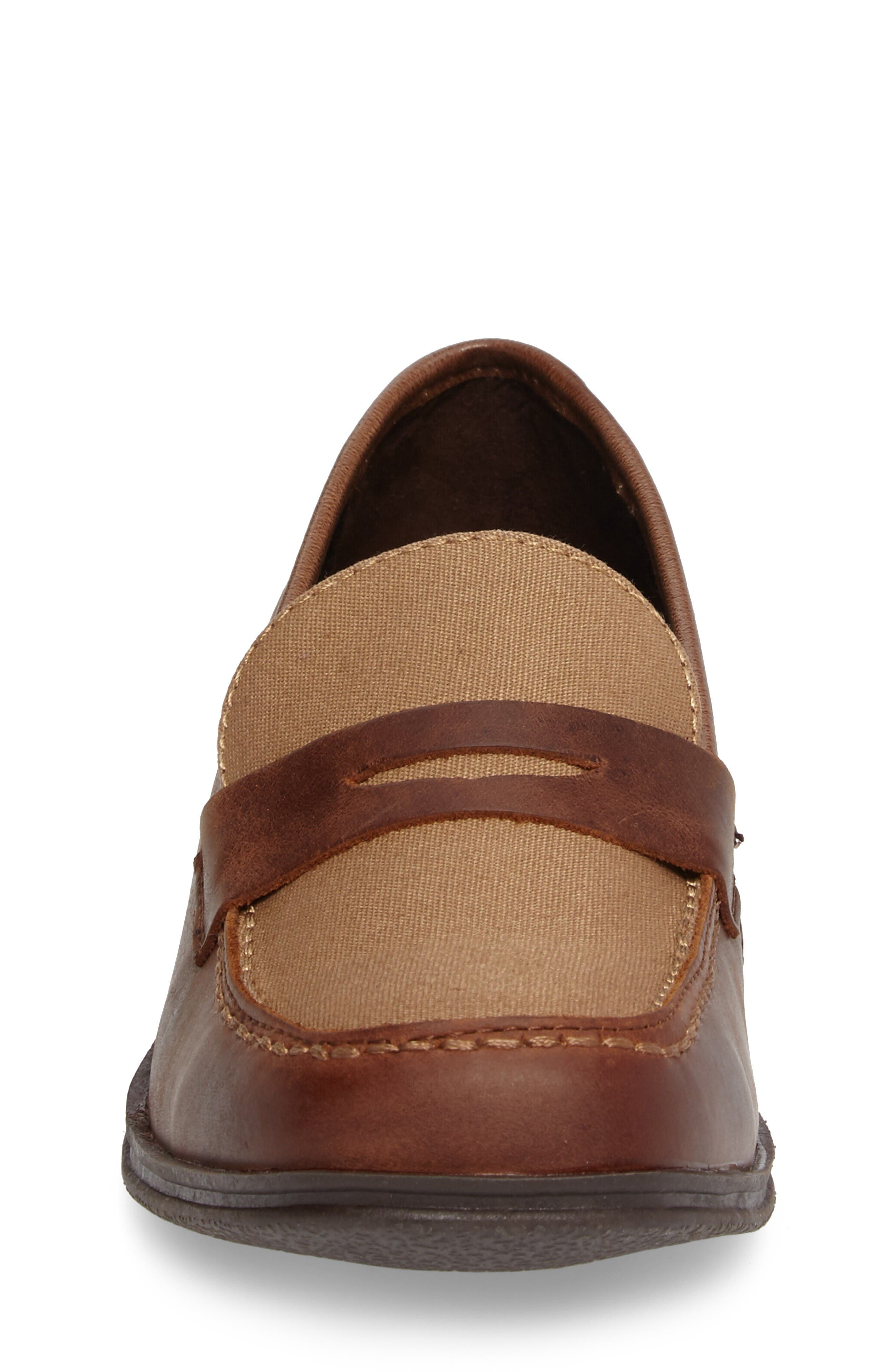 Club Loft Loafer,                             Alternate thumbnail 4, color,                             Tan/ Brown Leather