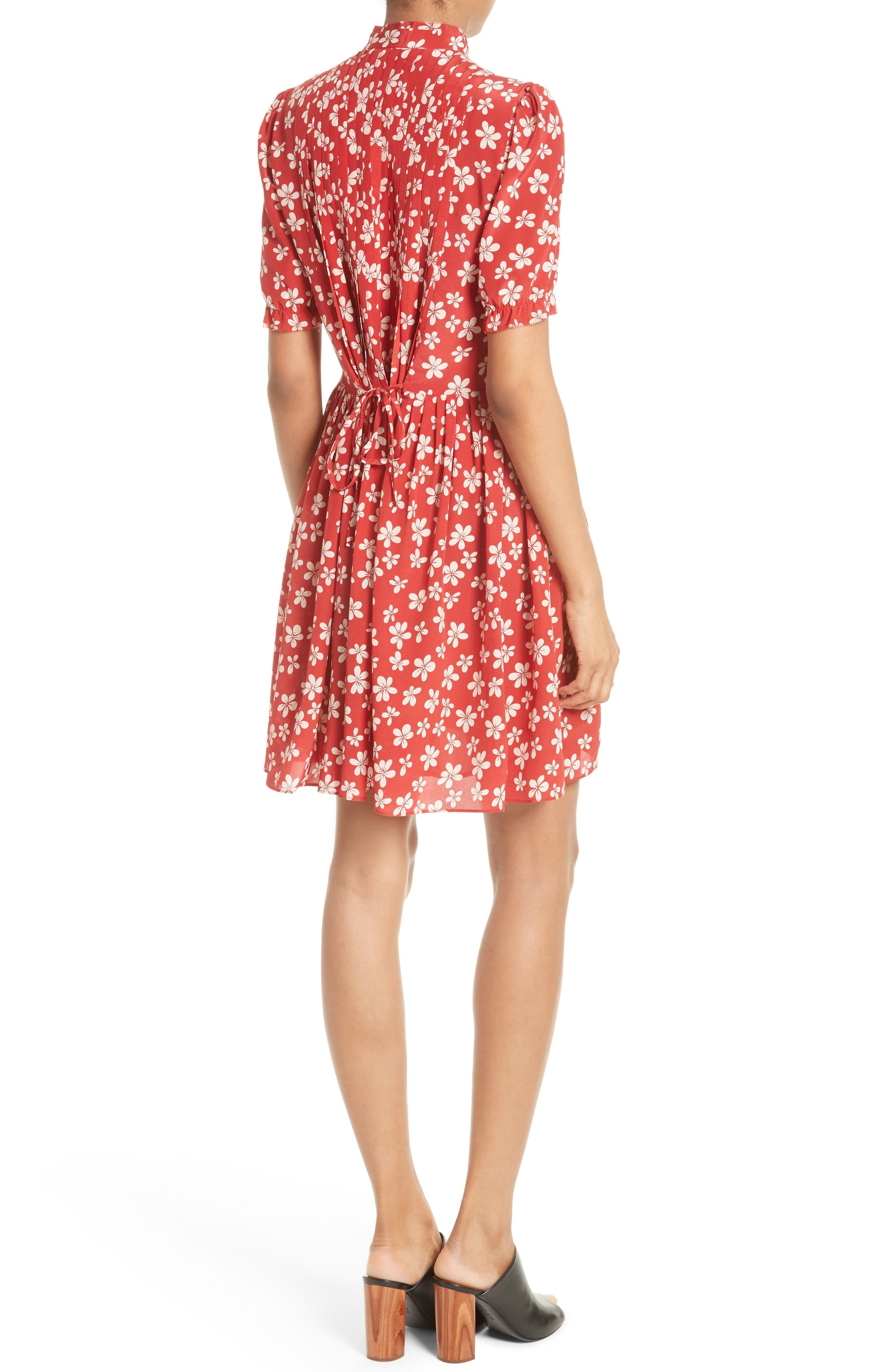 Alternate Image 2  - The Kooples Floral Print Silk Dress