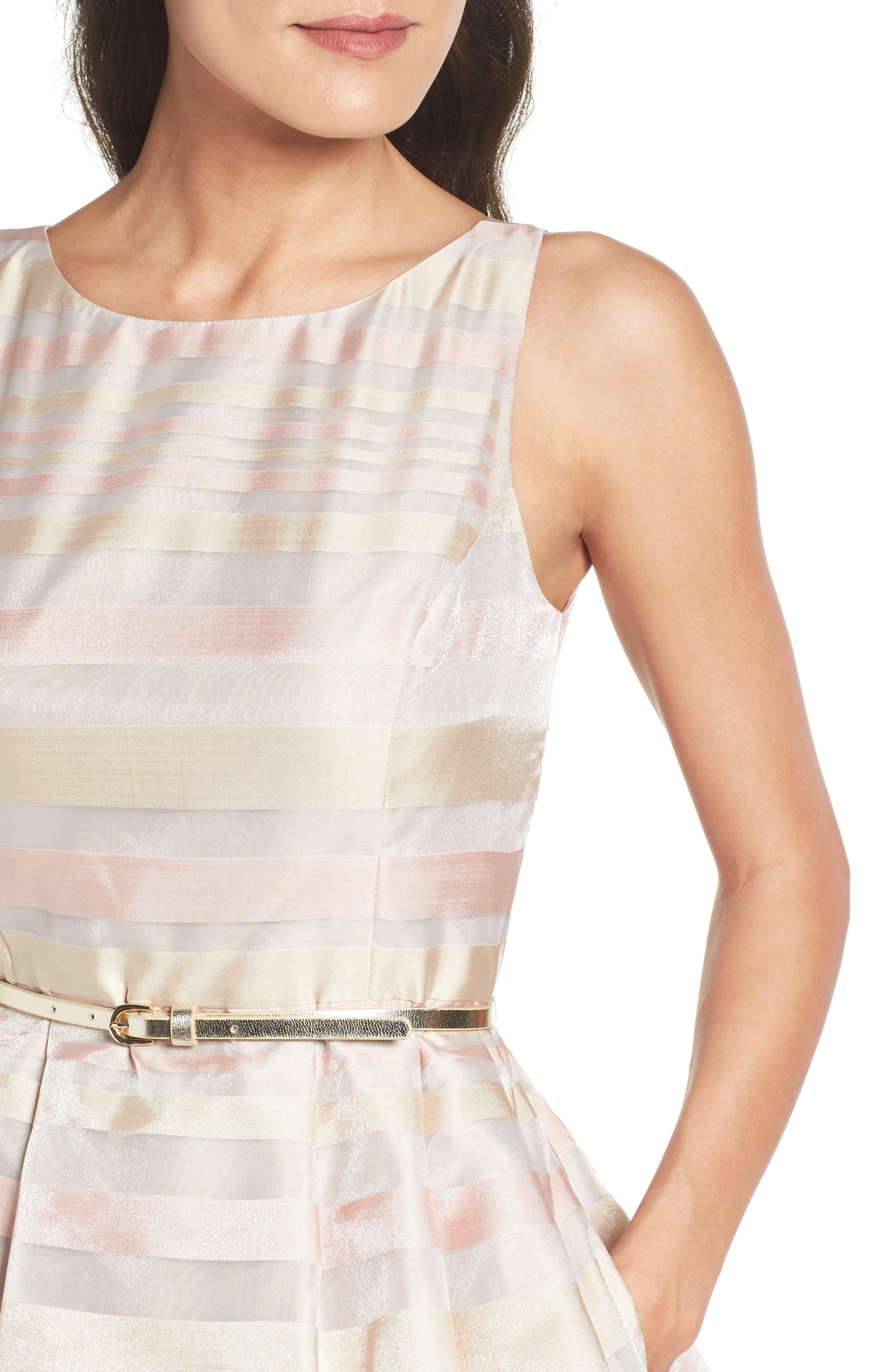 Alternate Image 5  - Eliza J Stripe Fit & Flare Dress