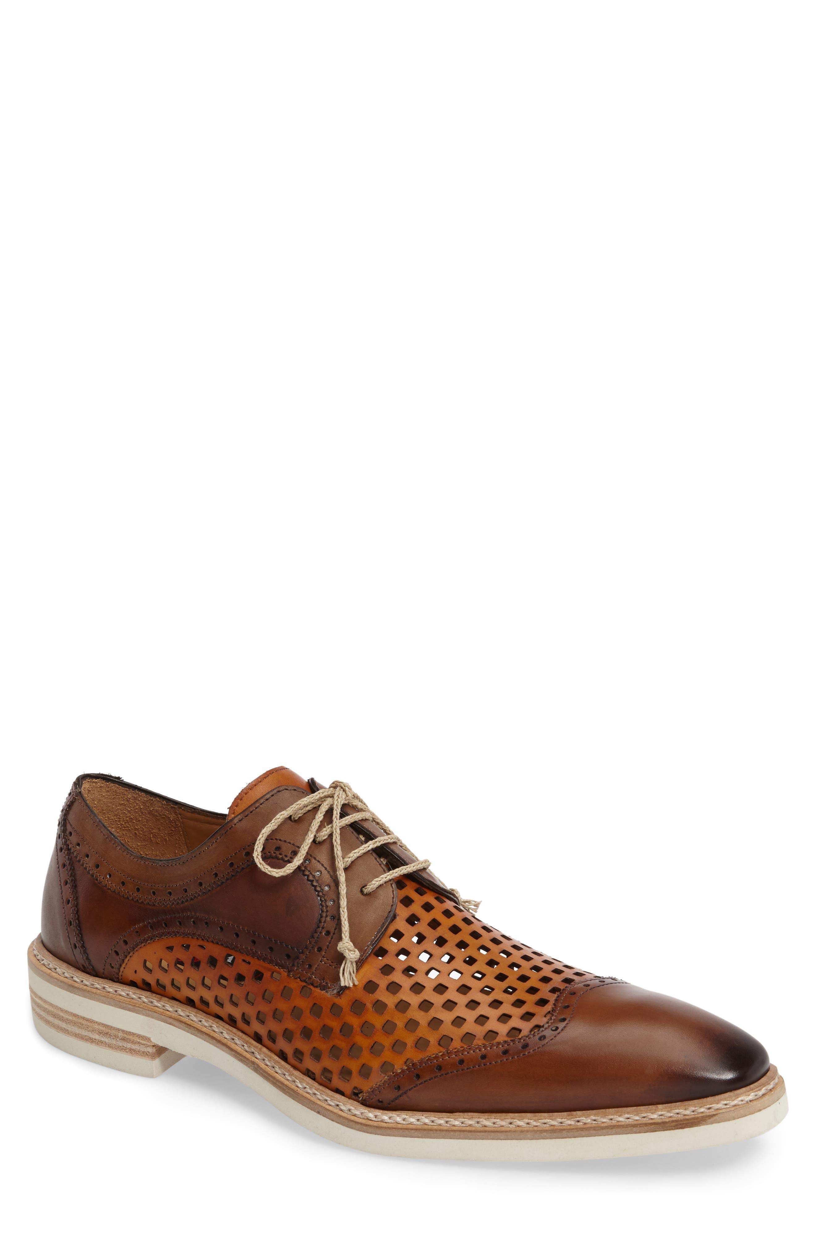 Alvarez Spectator Shoe,                             Main thumbnail 1, color,                             Cognac Multi Leather