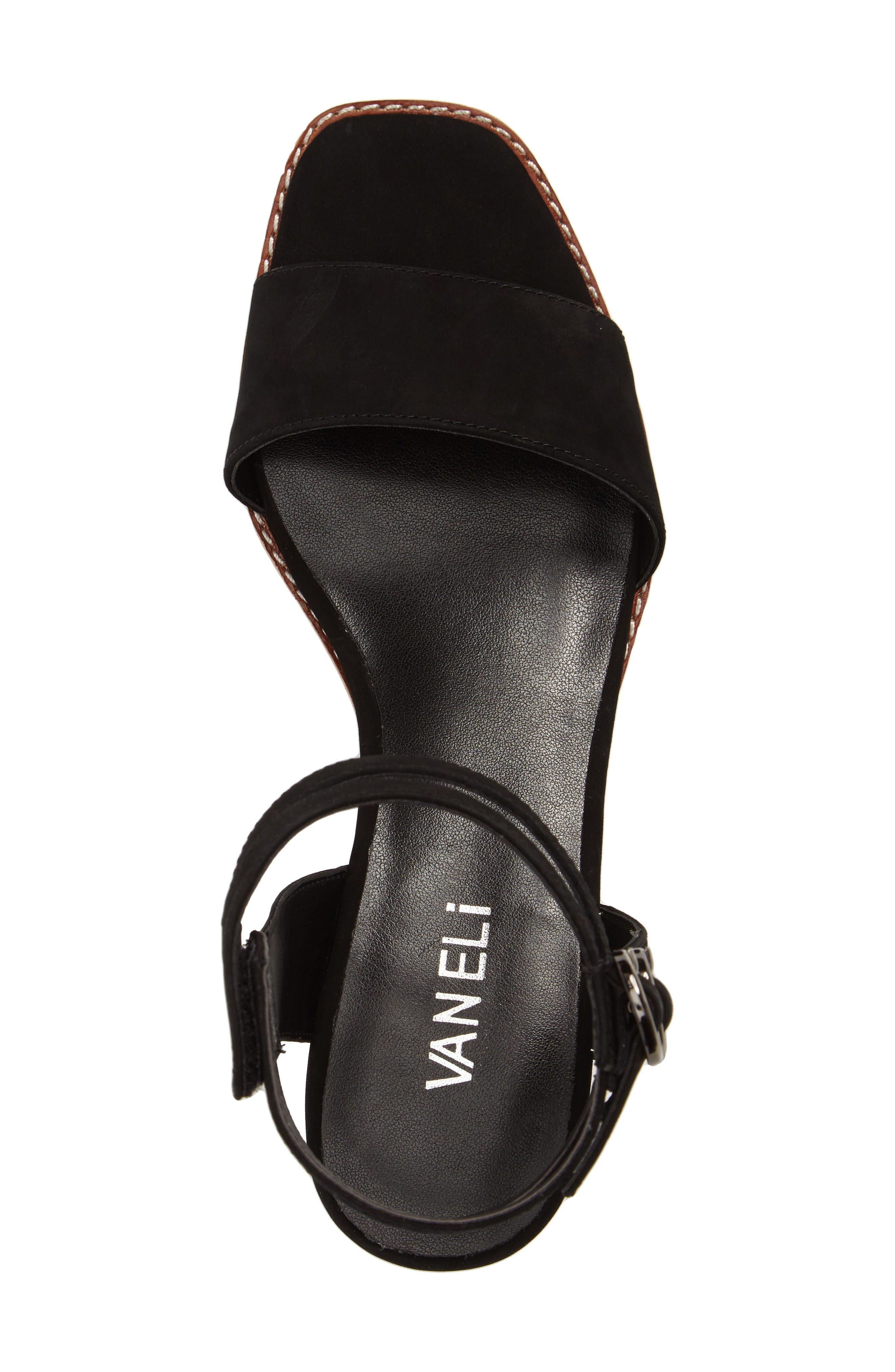 Jarita Ankle Strap Sandal,                             Alternate thumbnail 5, color,                             Black Leather
