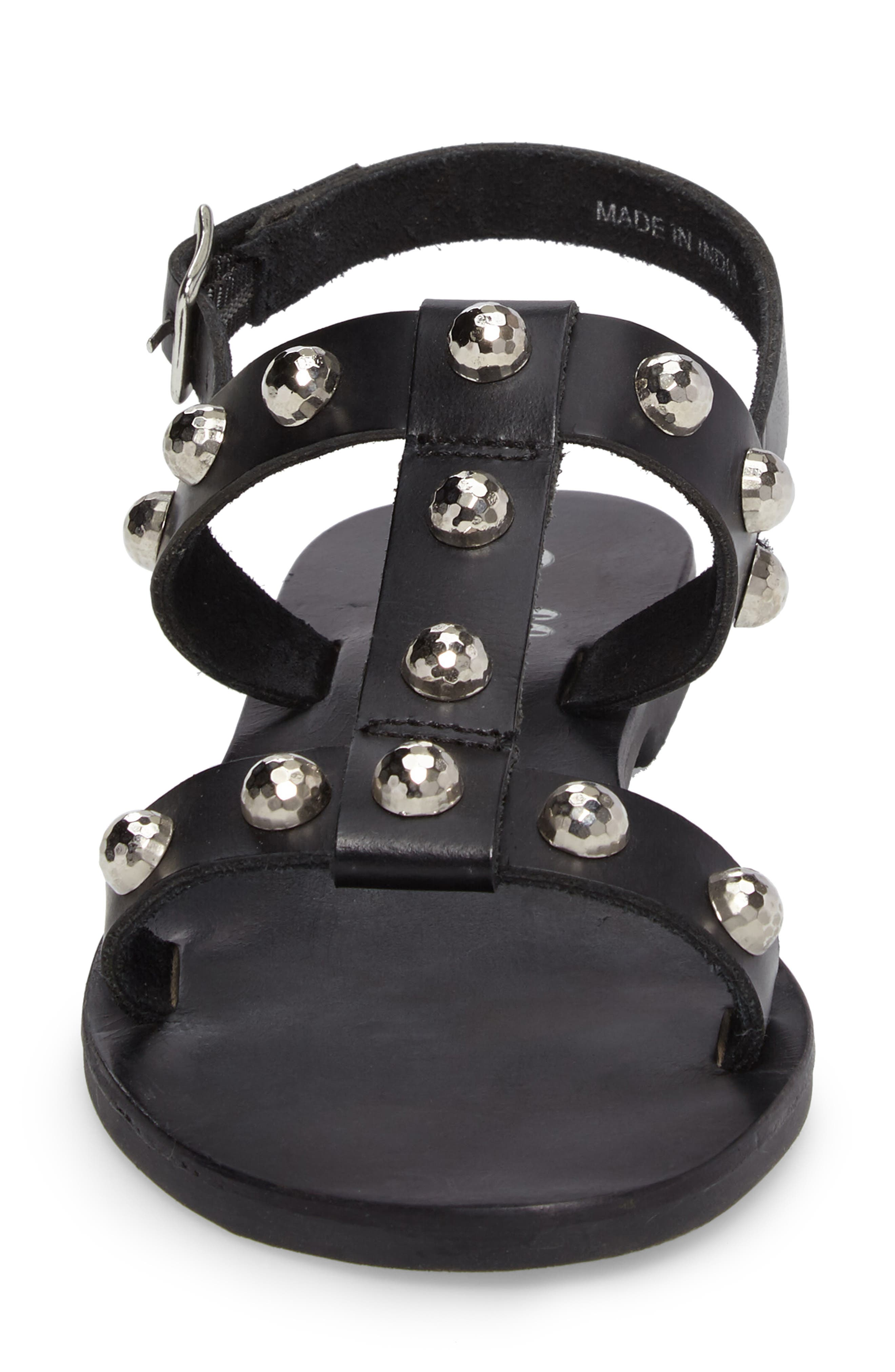 Bristol Sandal,                             Alternate thumbnail 4, color,                             Black Leather