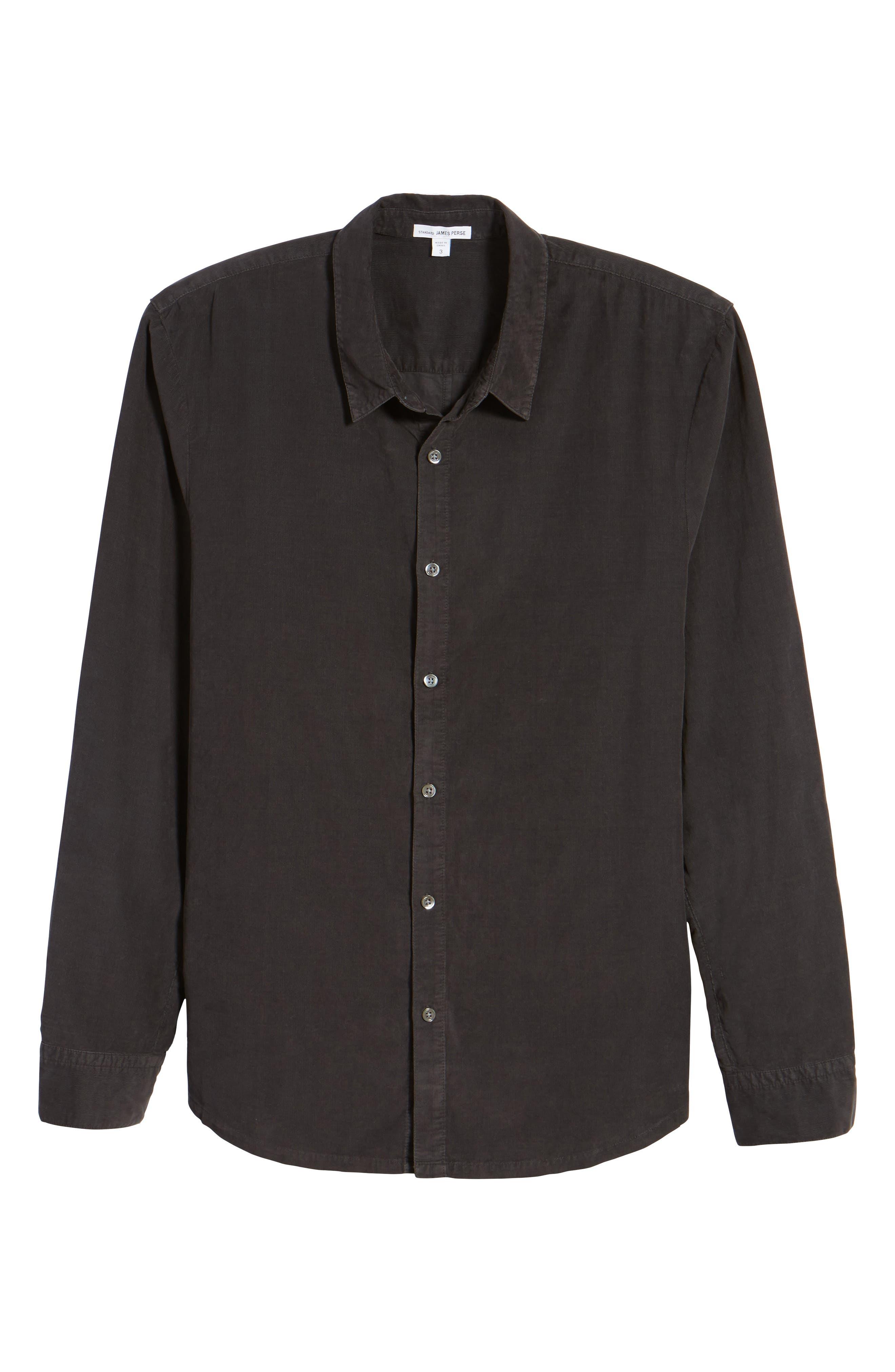 Corduroy Sport Shirt,                             Alternate thumbnail 6, color,                             Carbon Pigment
