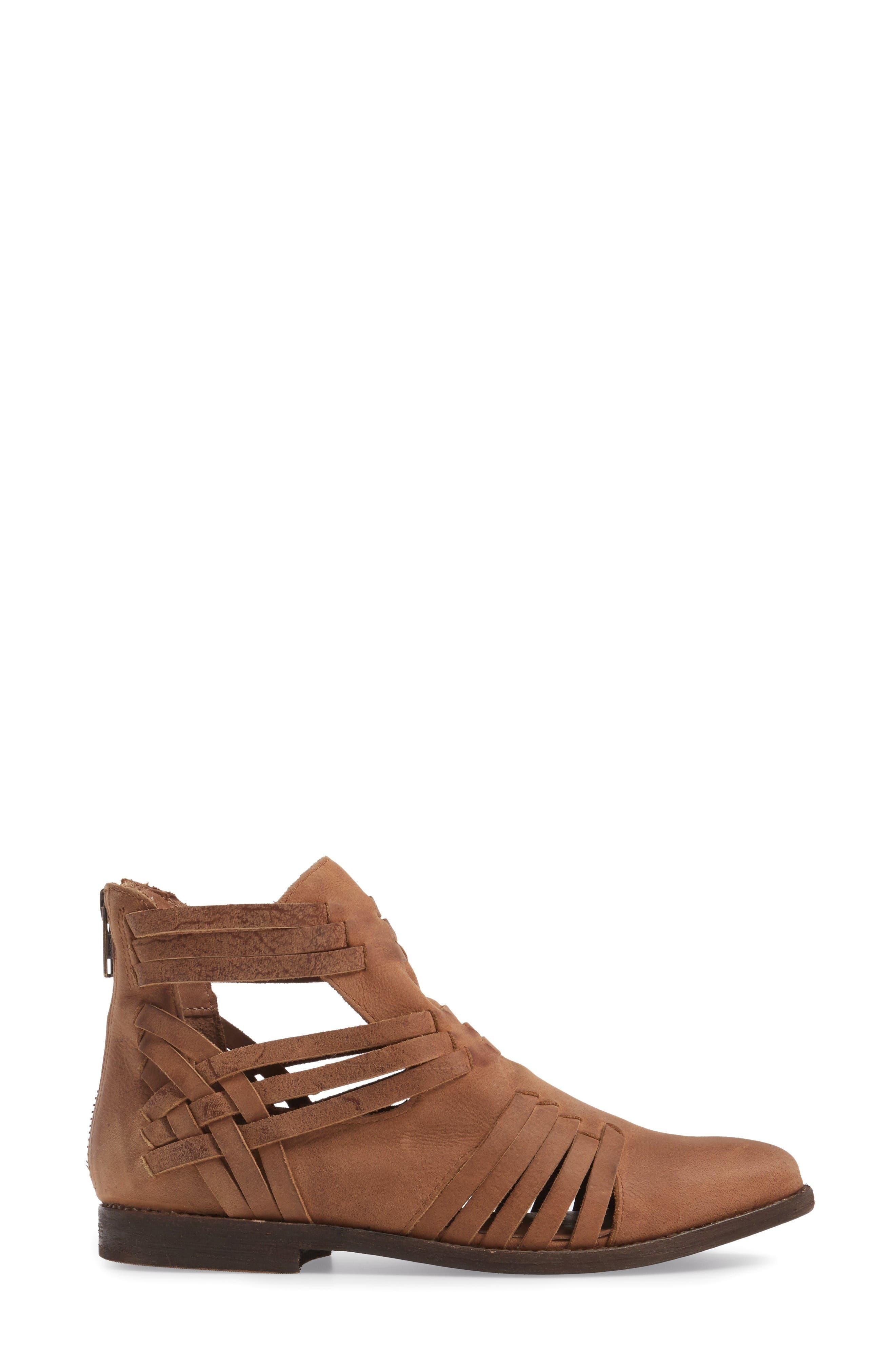 Fairuz Bootie,                             Alternate thumbnail 3, color,                             Tan Leather