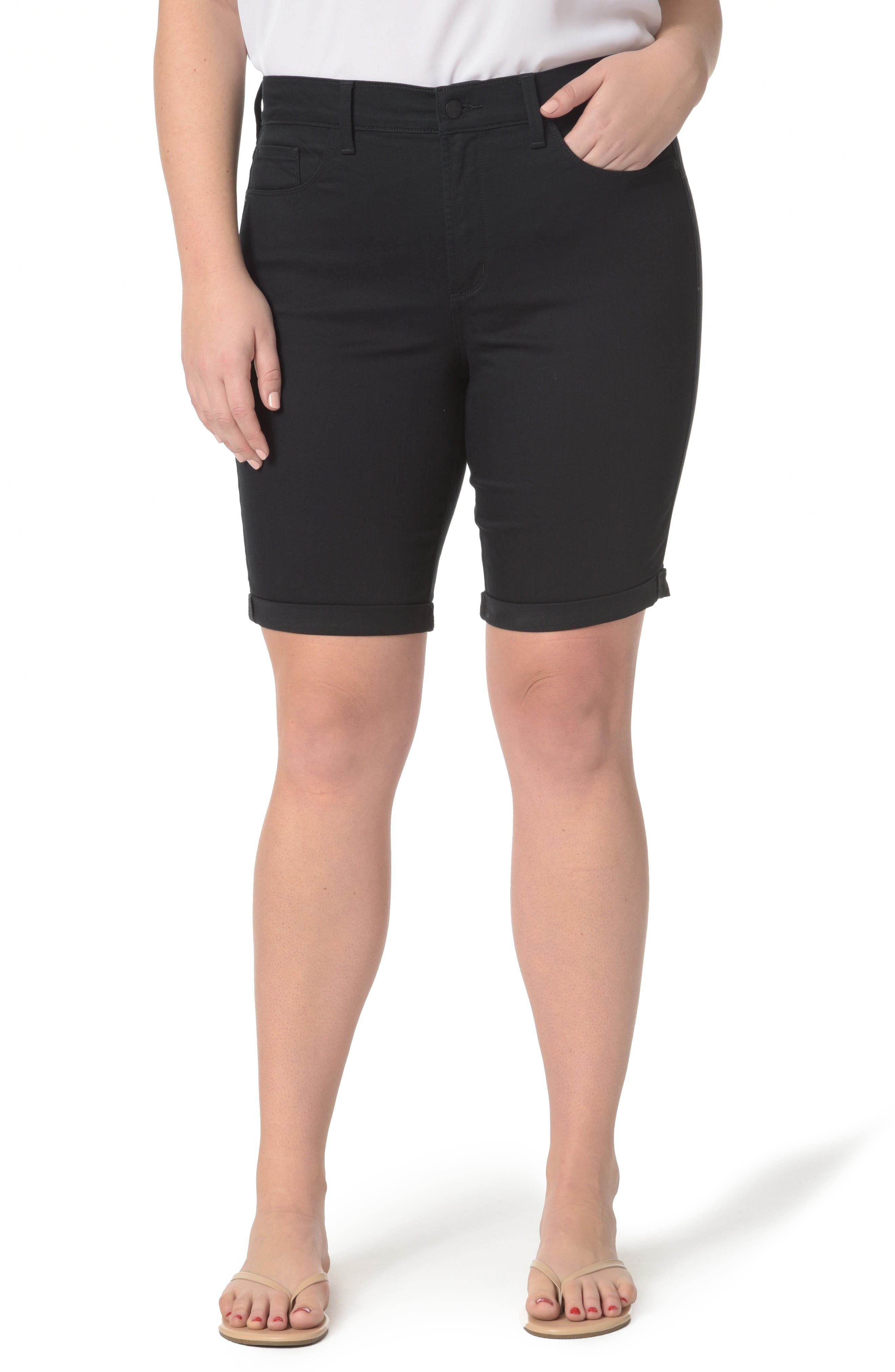 NYDJ Briella Stretch Denim Shorts