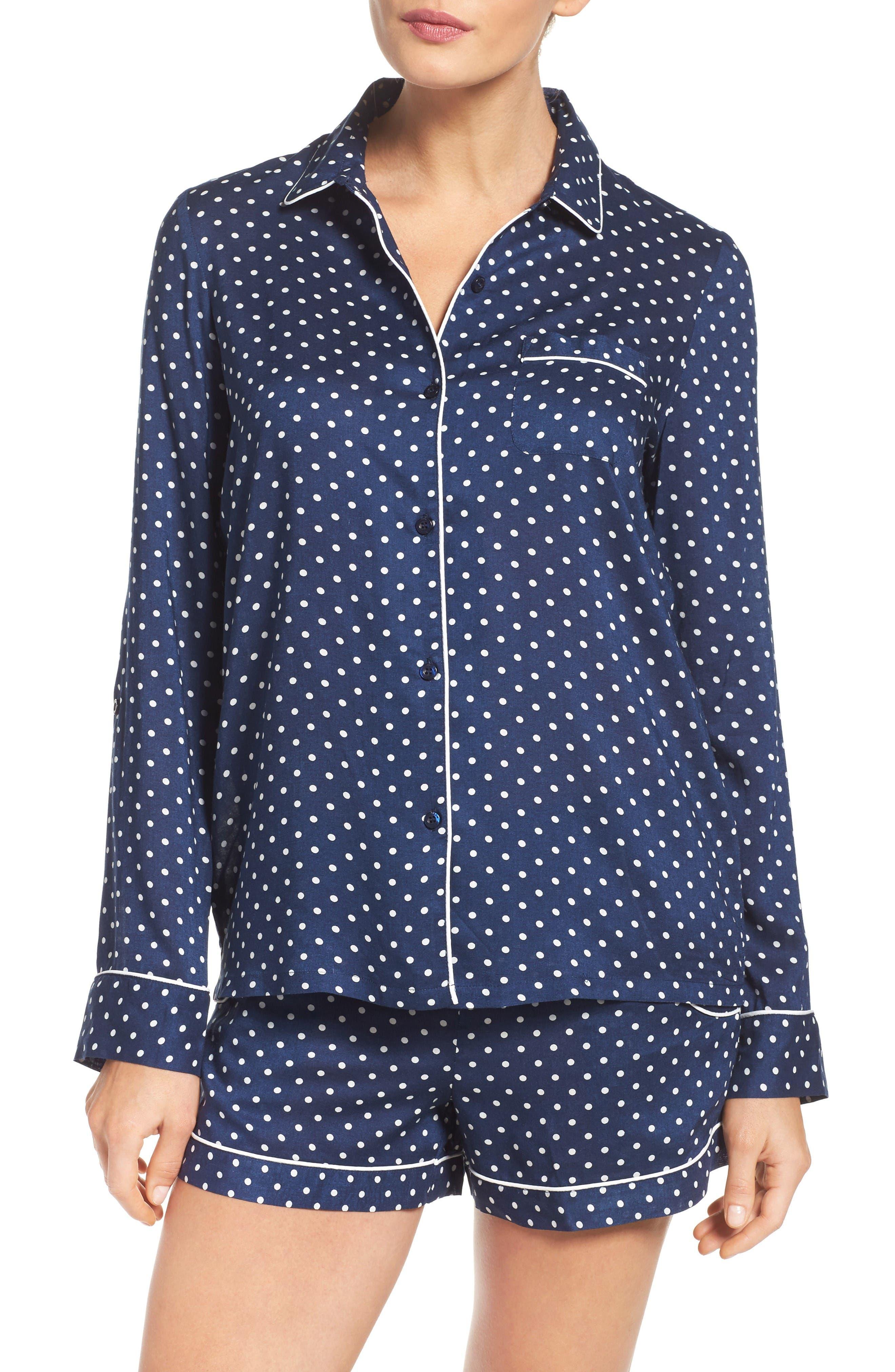 Alternate Image 1 Selected - Nordstrom Lingerie Woven Short Pajamas