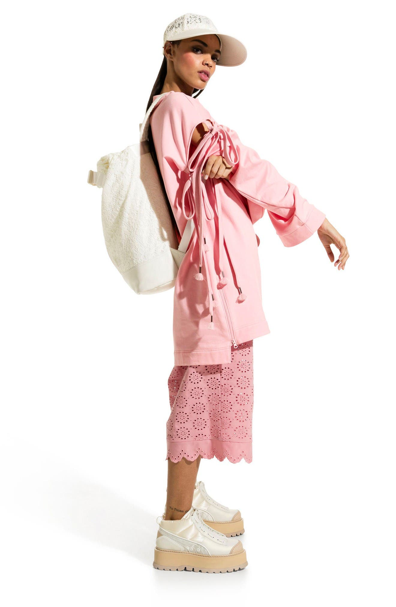 Alternate Image 2  - FENTY PUMA by Rihanna Oversize Convertible Sleeve Sweatshirt